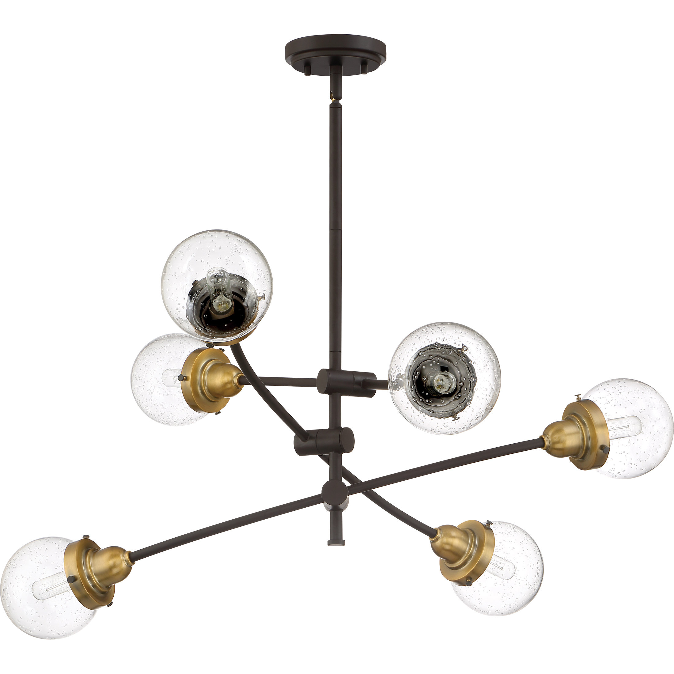 Brucie 6 Light Chandelier With Regard To Newest Eladia 6 Light Sputnik Chandeliers (View 5 of 25)
