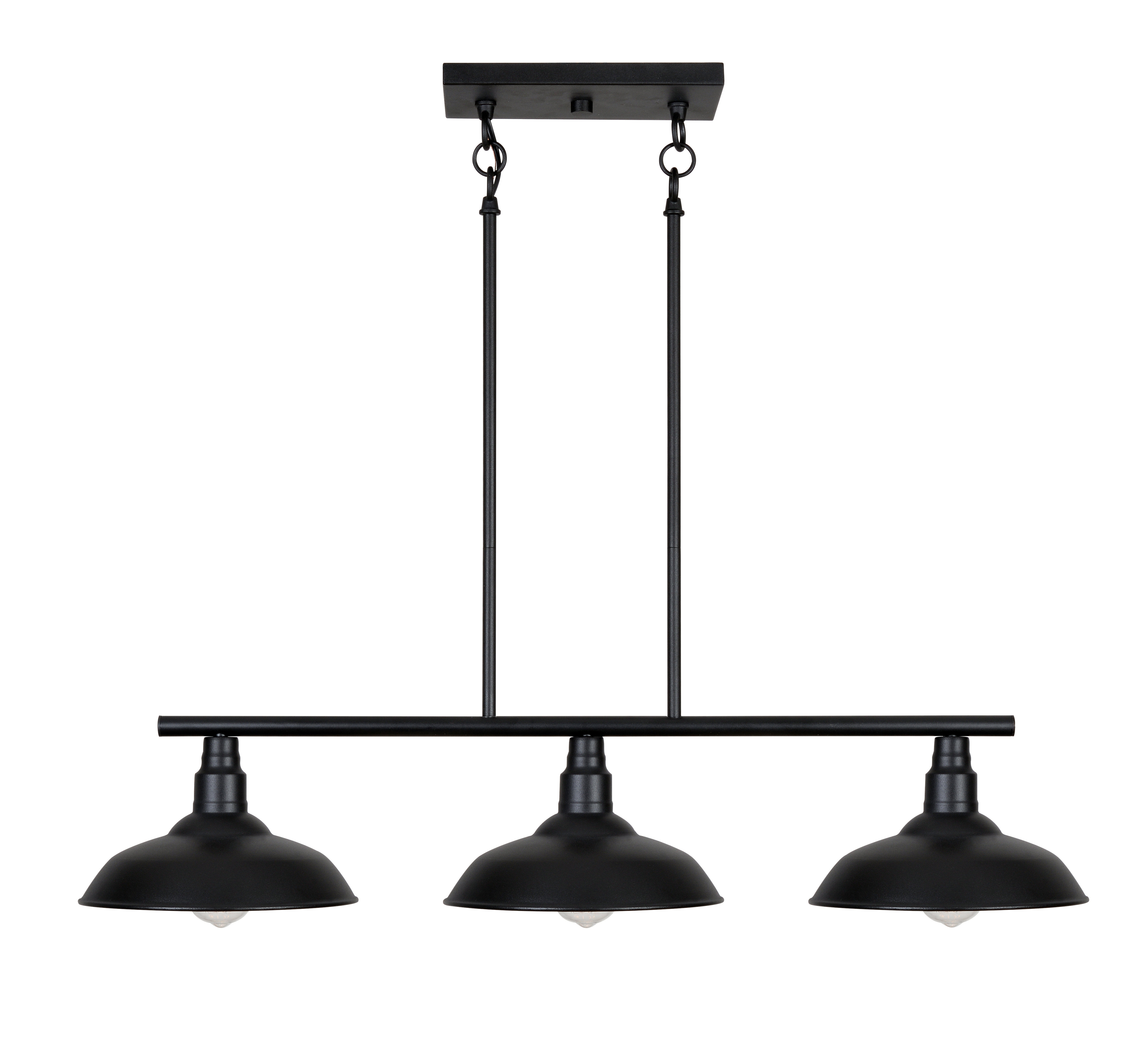 Brummett 3-Light Kitchen Island Pendant throughout Most Recent Cinchring 1-Light Cone Pendants