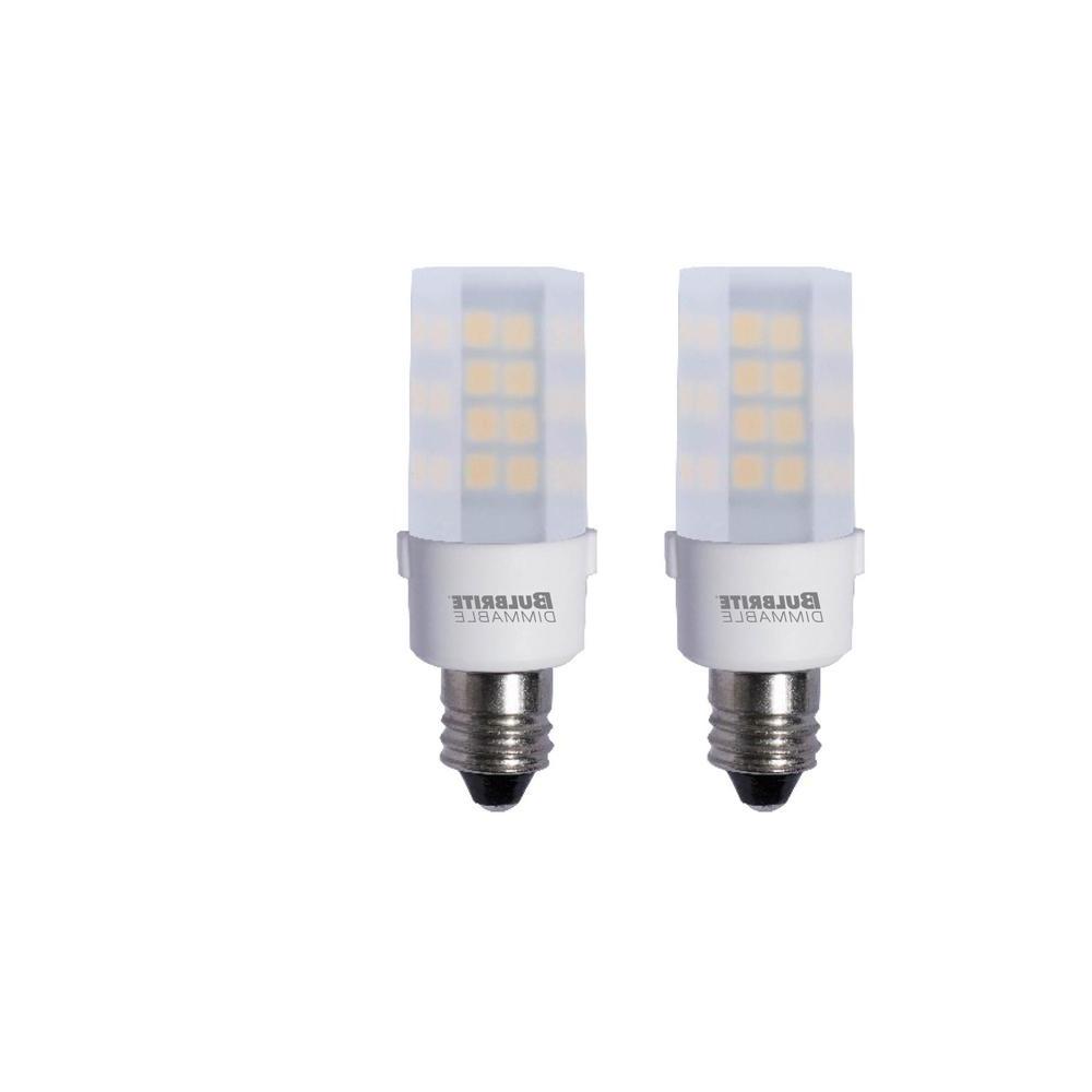Bulbrite 35-Watt Equivalent T4 Dimmable Candelabra Led Light Bulb Warm  White (2-Pack) regarding Popular Warner Robins 3-Light Lantern Pendants