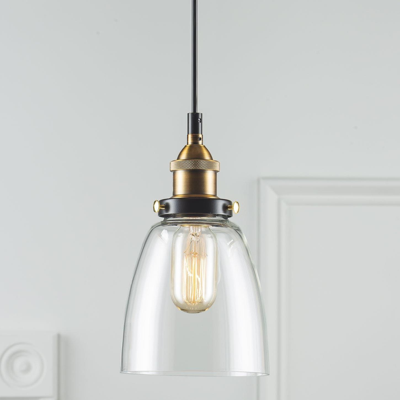 Bundaberg 1-Light Single Bell Pendant inside Popular Bundaberg 1-Light Single Bell Pendants