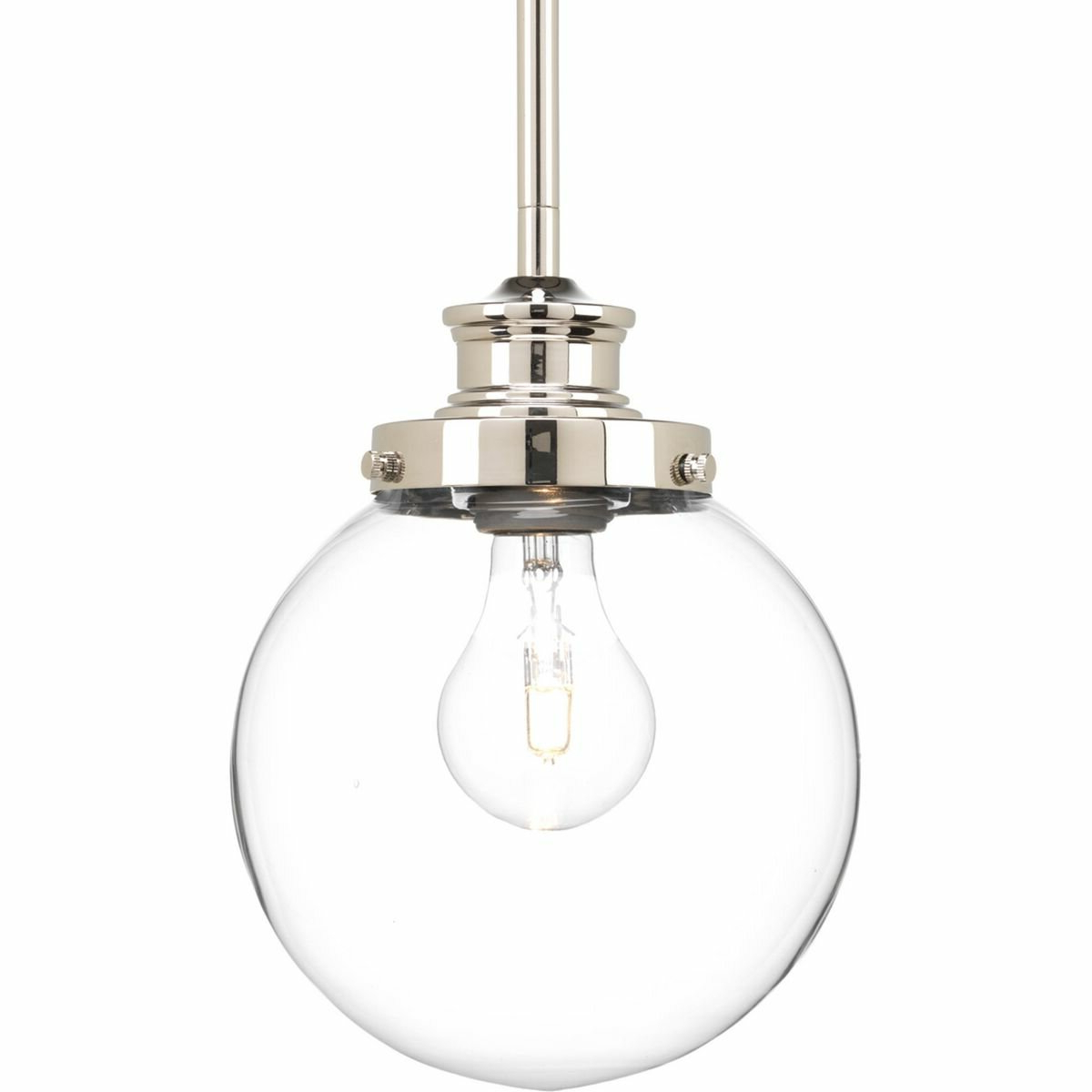 Bundaberg 1-Light Single Bell Pendants throughout Newest Cayden 1-Light Single Globe Pendant