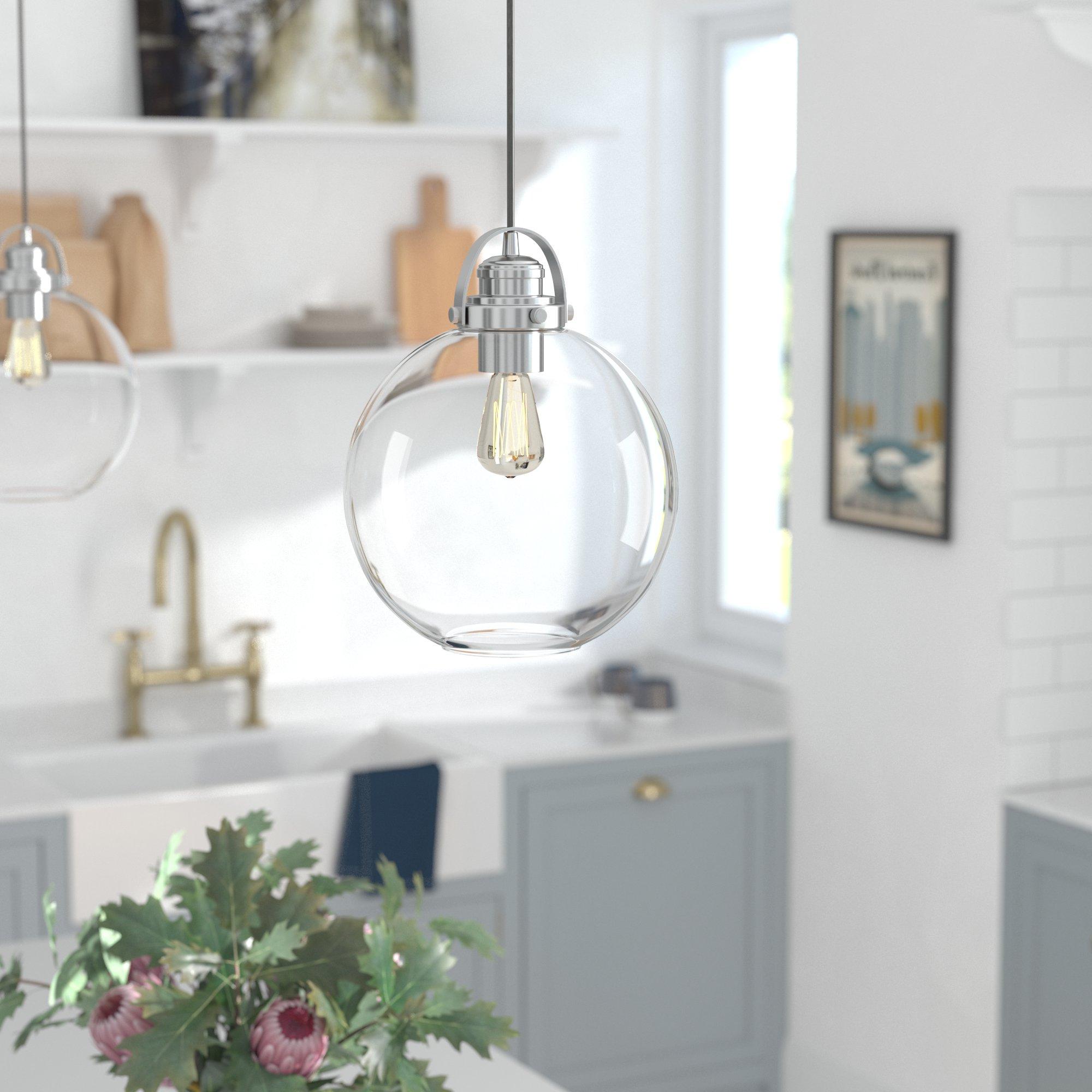 Bundy 1-Light Single Globe Pendants with regard to Most Popular Betsy 1-Light Single Globe Pendant