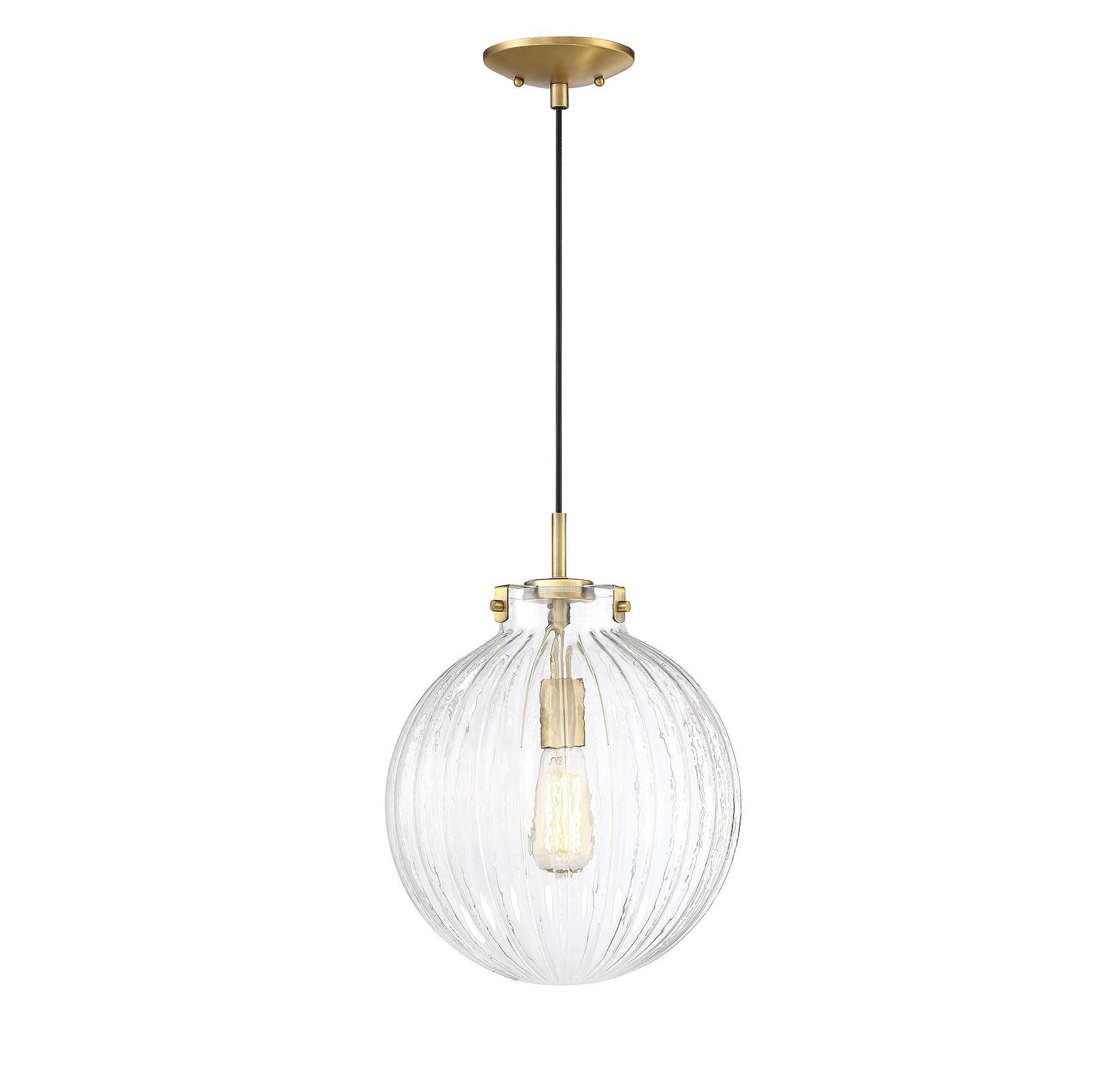 Bundy 1-Light Single Globe Pendants within Most Current Nevels 1-Light Single Globe Pendant