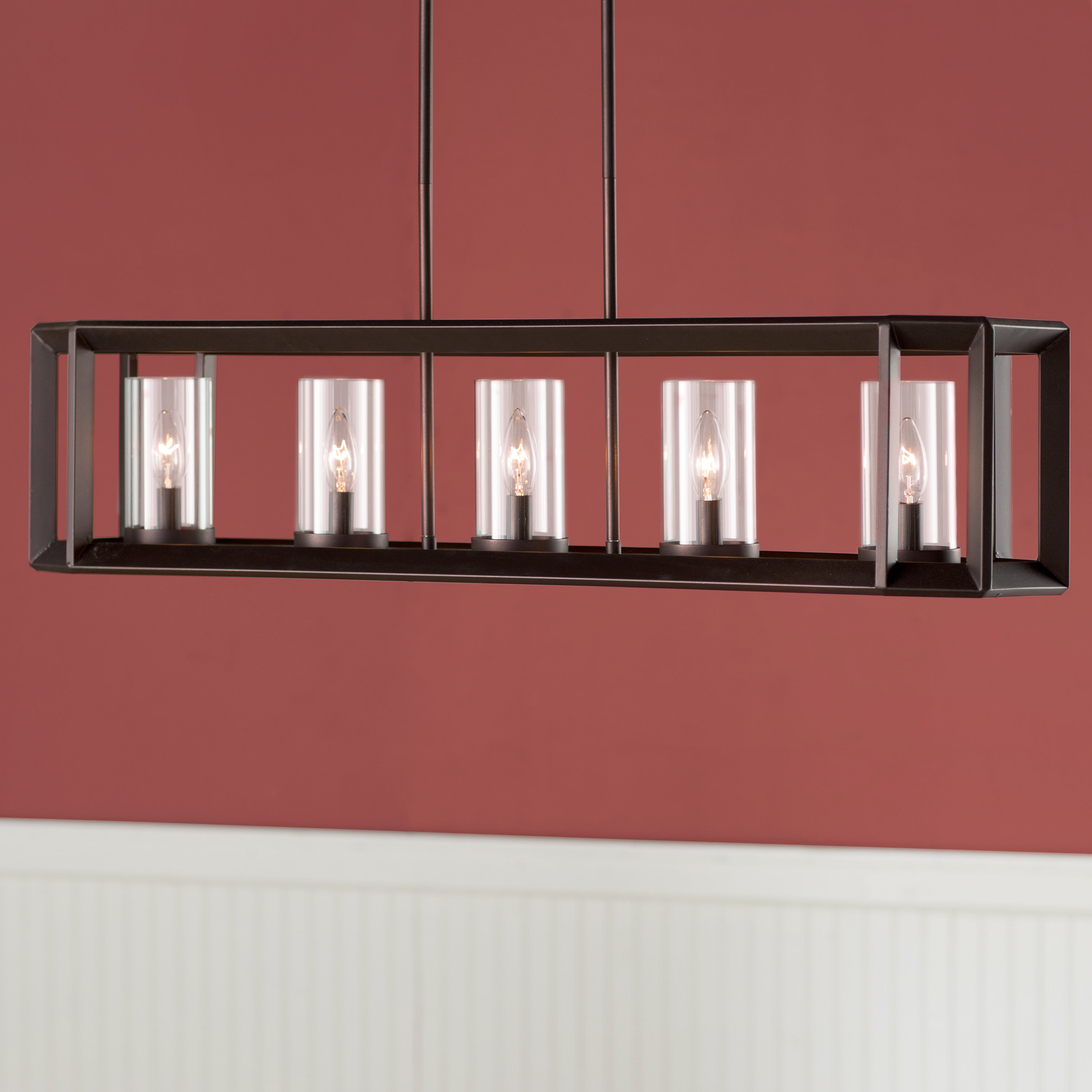 Burbage 5-Light Kitchen Island Pendant for Newest Thorne 5-Light Kitchen Island Pendants