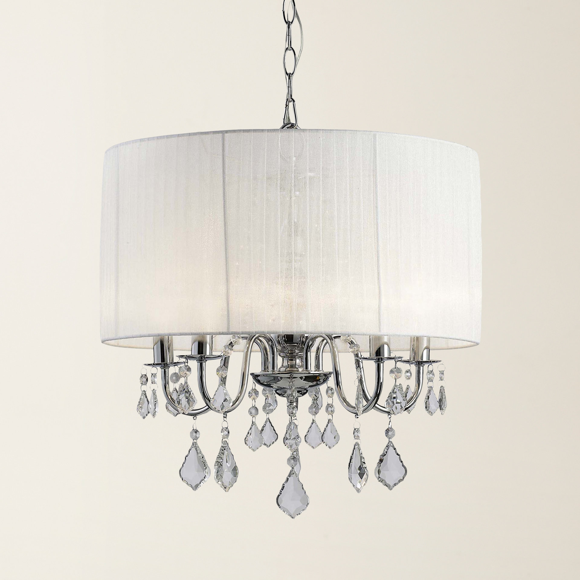 Buster 5 Light Drum Chandelier In Newest Alverez 4 Light Drum Chandeliers (View 22 of 25)