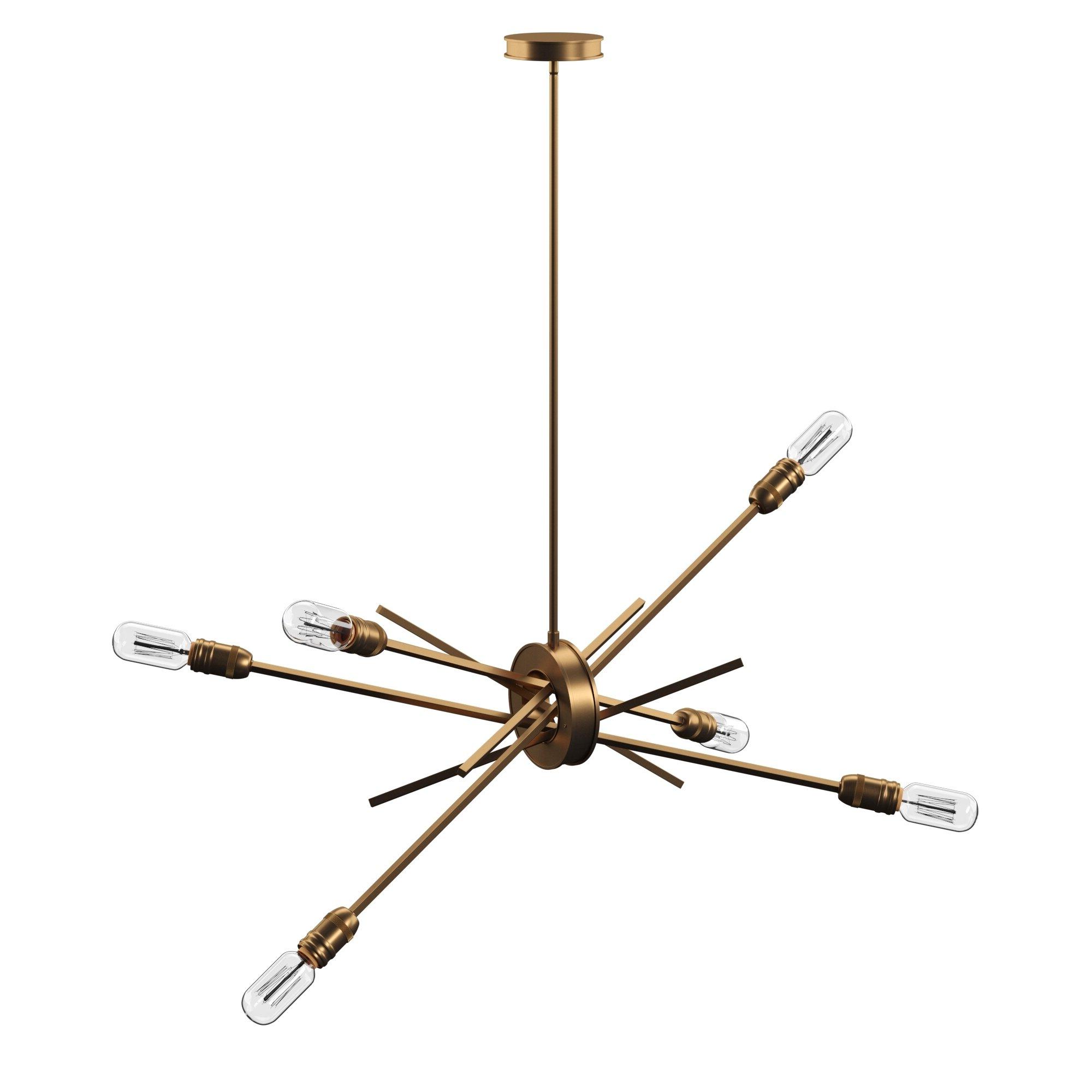 Byler 6-Light Sputnik Chandelier throughout Widely used Everett 10-Light Sputnik Chandeliers