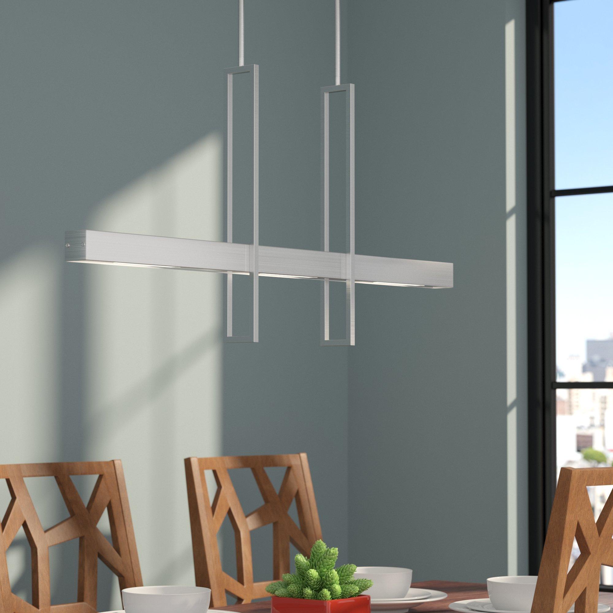 Callington 2 Light Led Kitchen Island Linear Pendant Inside Latest Callington 1 Light Led Single Geometric Pendants (View 3 of 25)