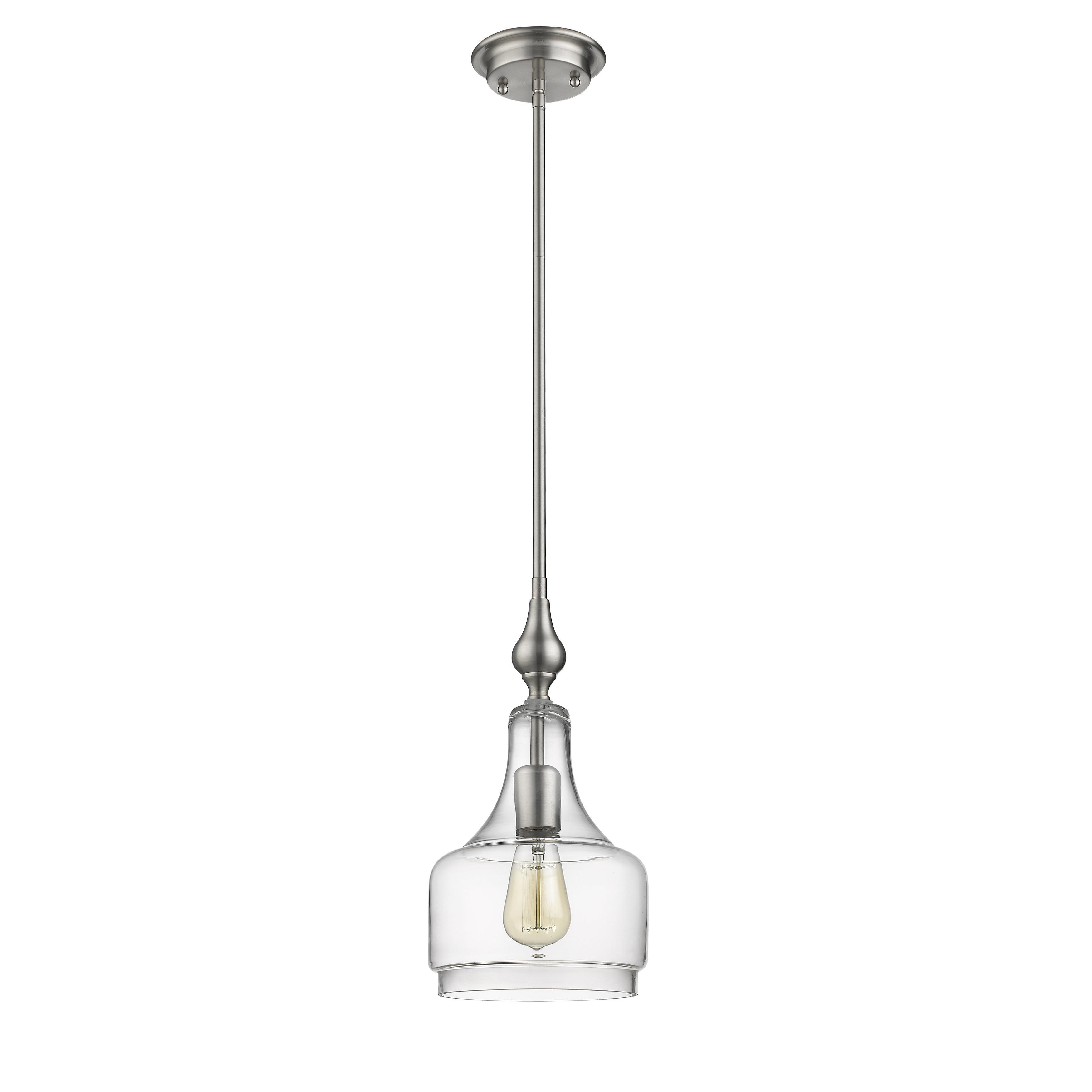 Carey 1 Light Single Bell Pendants Throughout Current Dunson 1 Light Single Bell Pendant (View 17 of 25)