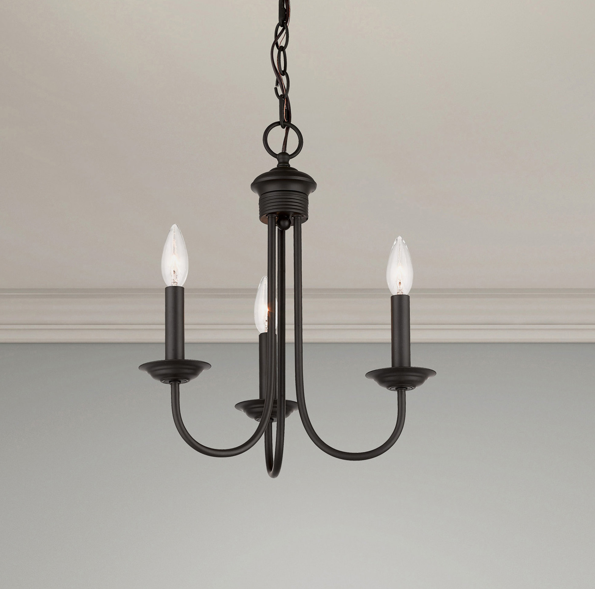 Carruthers 3 Light Candle Style Chandelier For Well Known Shaylee 8 Light Candle Style Chandeliers (View 7 of 25)