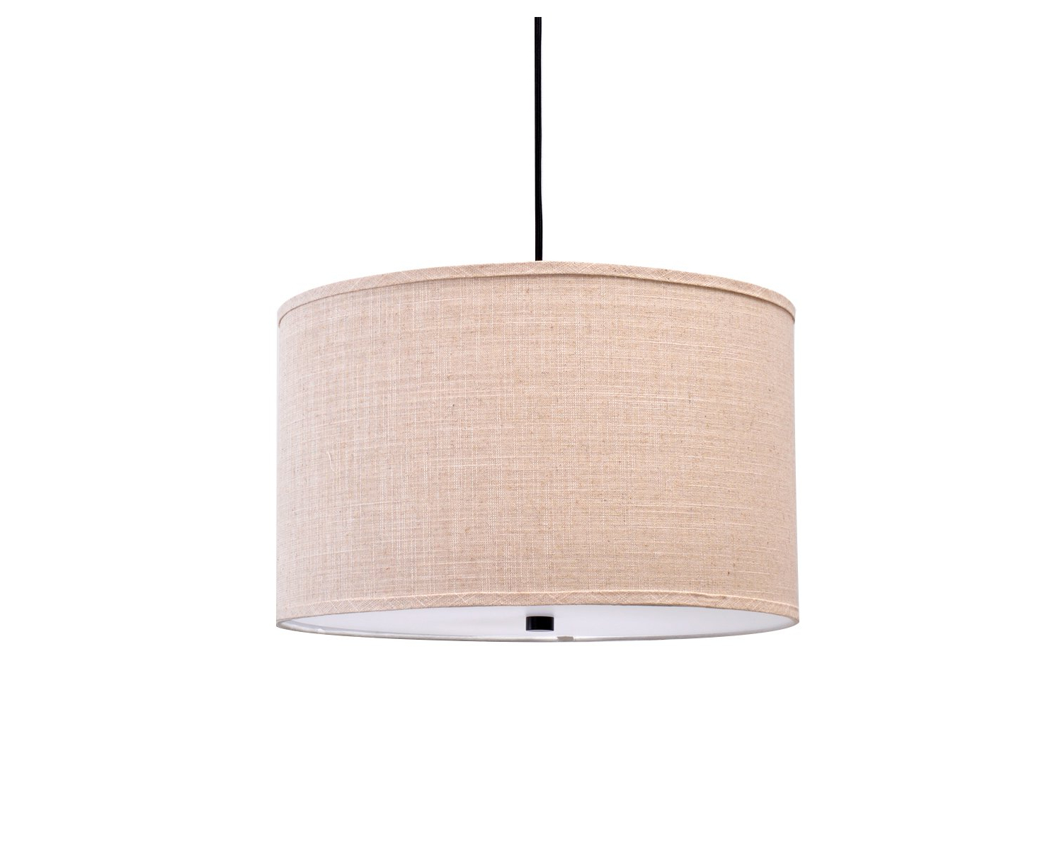 Catalina Lighting 19867 001 Traditional 3 Fabric Pendant Ceiling Light With  Diffuser On Bottom, 18 Inch, Bronze With Fashionable Kasey 3 Light Single Drum Pendants (View 18 of 25)