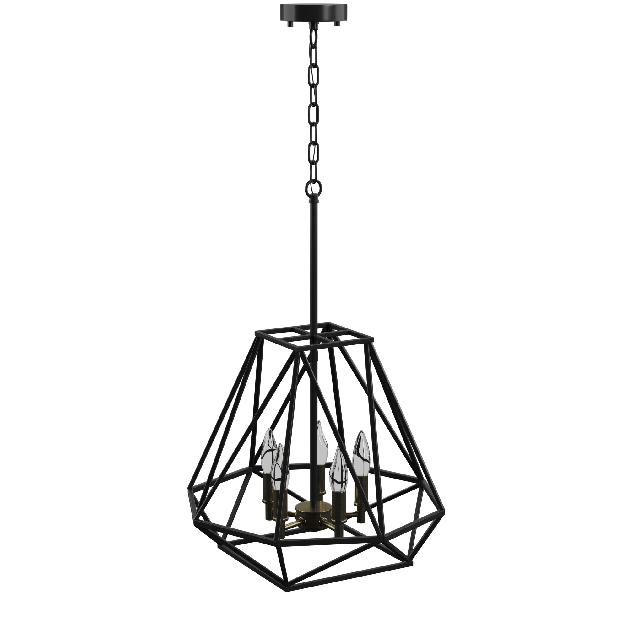 Cavanagh 4 Light Geometric Chandeliers With Best And Newest Mercury Row Sansa 5 Light Geometric Chandelier (View 8 of 25)