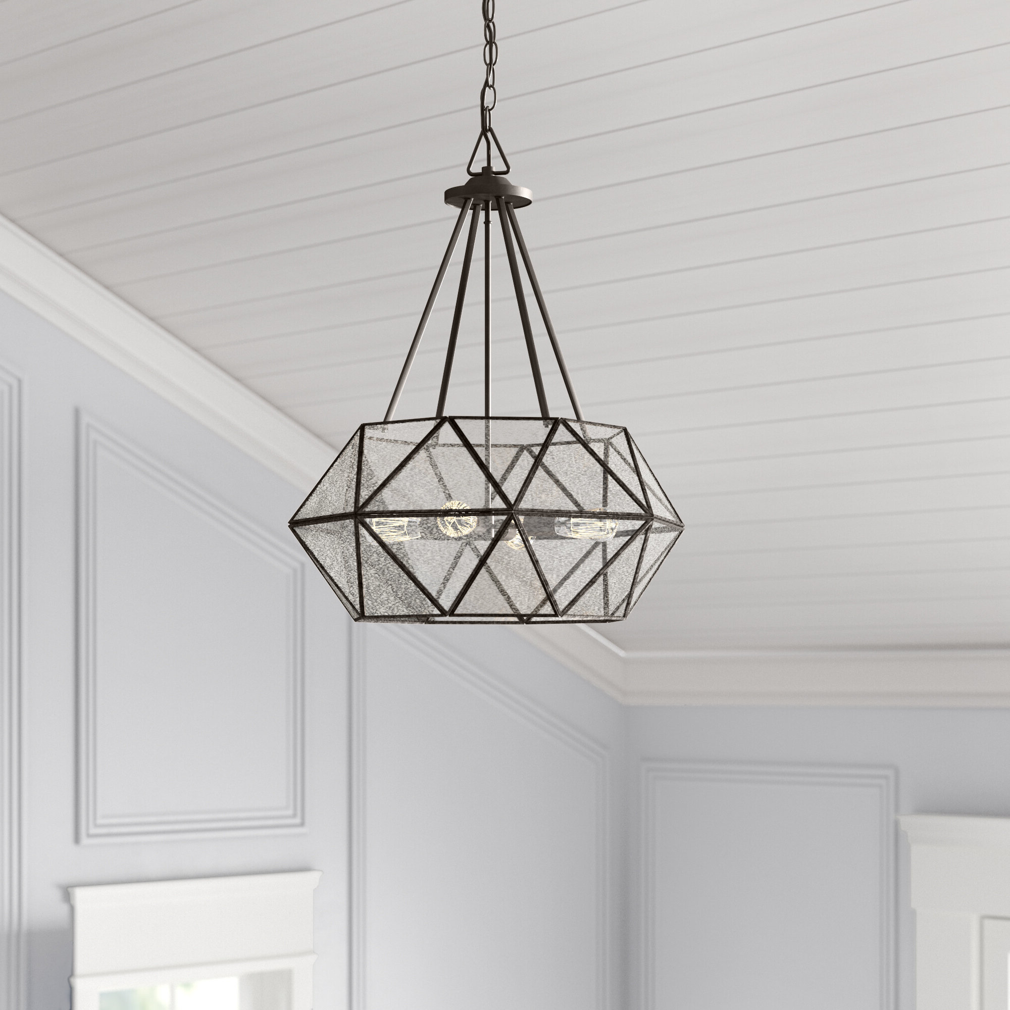 Cavanagh 4 Light Geometric Chandeliers With Well Known Jacey 4 Light Chandelier (View 10 of 25)