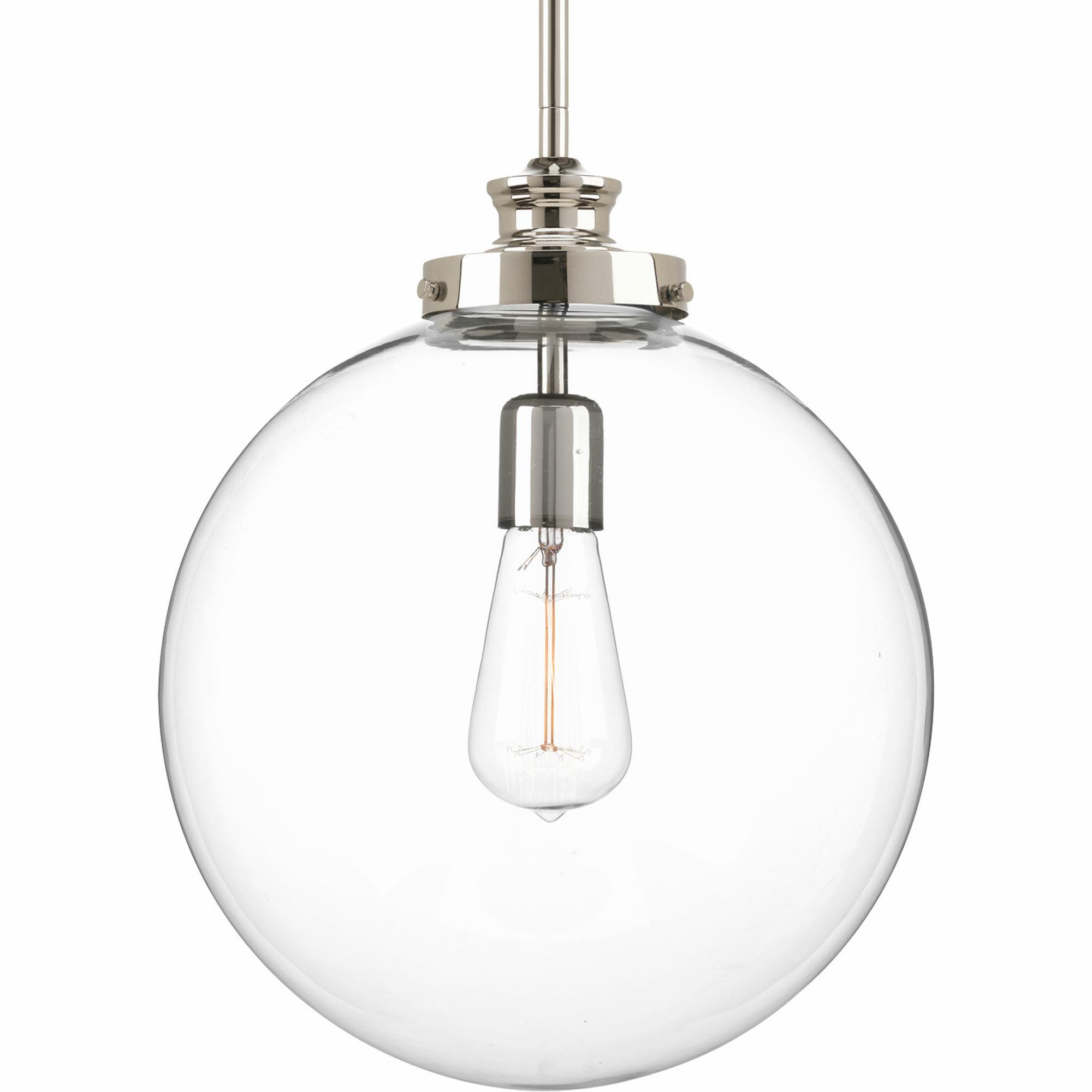 Cayden 1 Light Single Globe Pendant Pertaining To Widely Used 1 Light Geometric Globe Pendants (View 12 of 25)