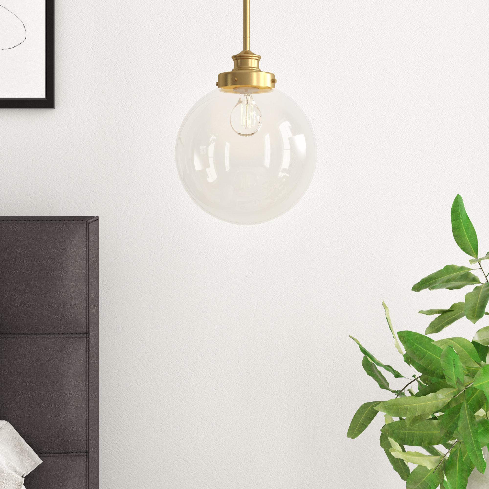 Cayden 1 Light Single Globe Pendant With Regard To Well Liked Cayden 1 Light Single Globe Pendants (View 6 of 25)
