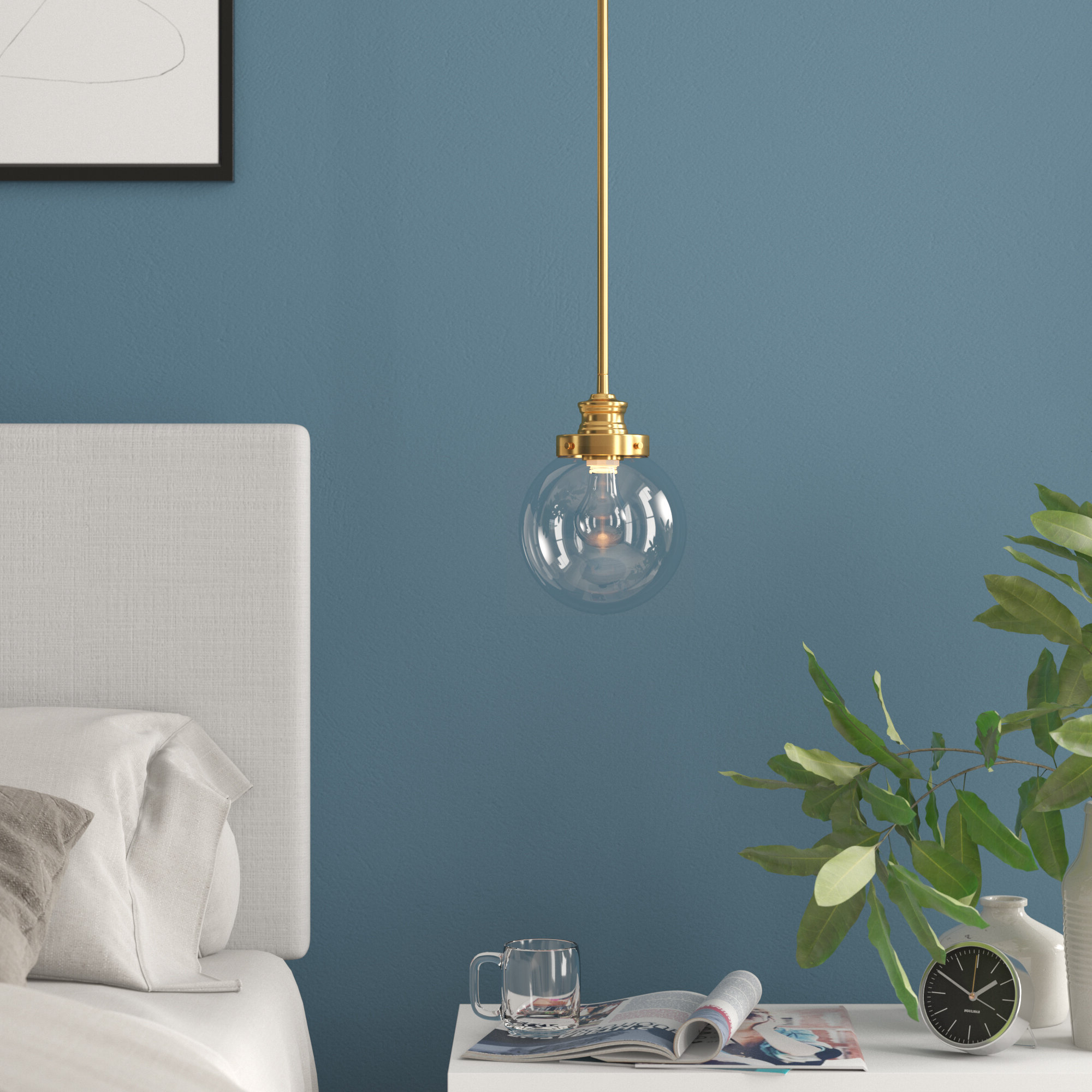 Cayden 1 Light Single Globe Pendants For Most Popular Cayden 1 Light Single Globe Pendant (View 17 of 25)