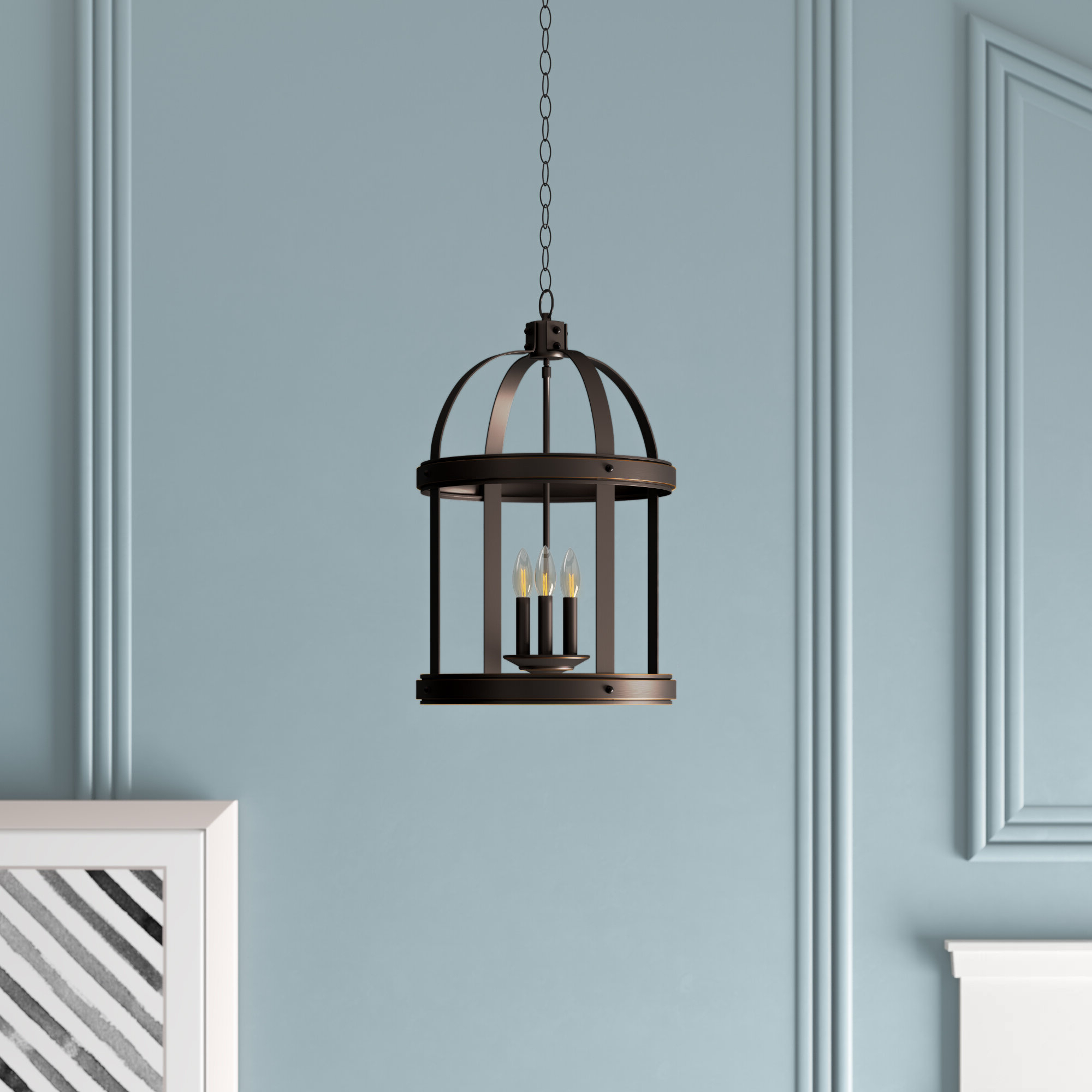 Chauvin 3 Light Lantern Geometric Pendants Throughout Most Up To Date Pawling 3 Light Lantern Cylinder Pendant (View 4 of 25)