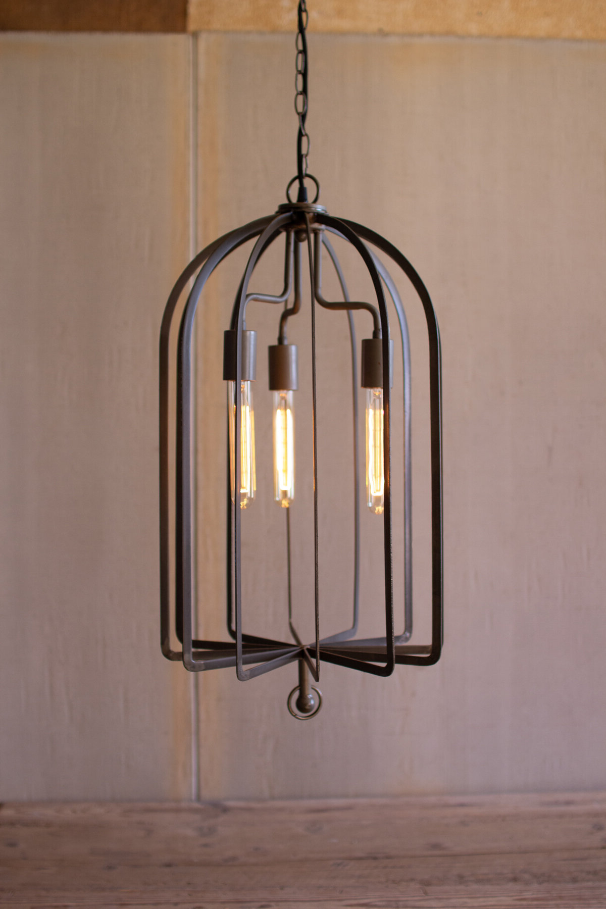 Chauvin 3 Light Lantern Geometric Pendants Throughout Widely Used Streit 3 Light Lantern Cylinder Pendant (View 10 of 25)