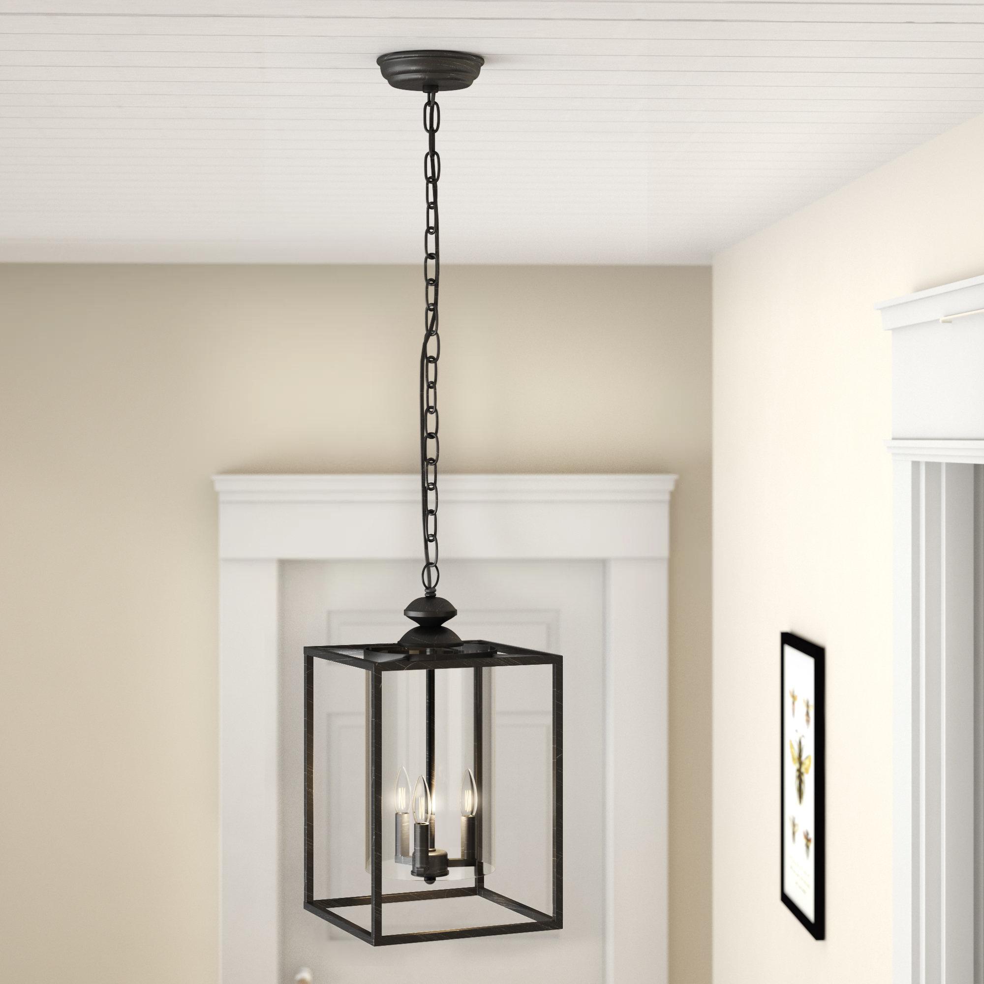 Chesson 3 Light Lantern Square/rectangle Pendant Regarding Favorite Finnick 3 Light Lantern Pendants (View 3 of 25)