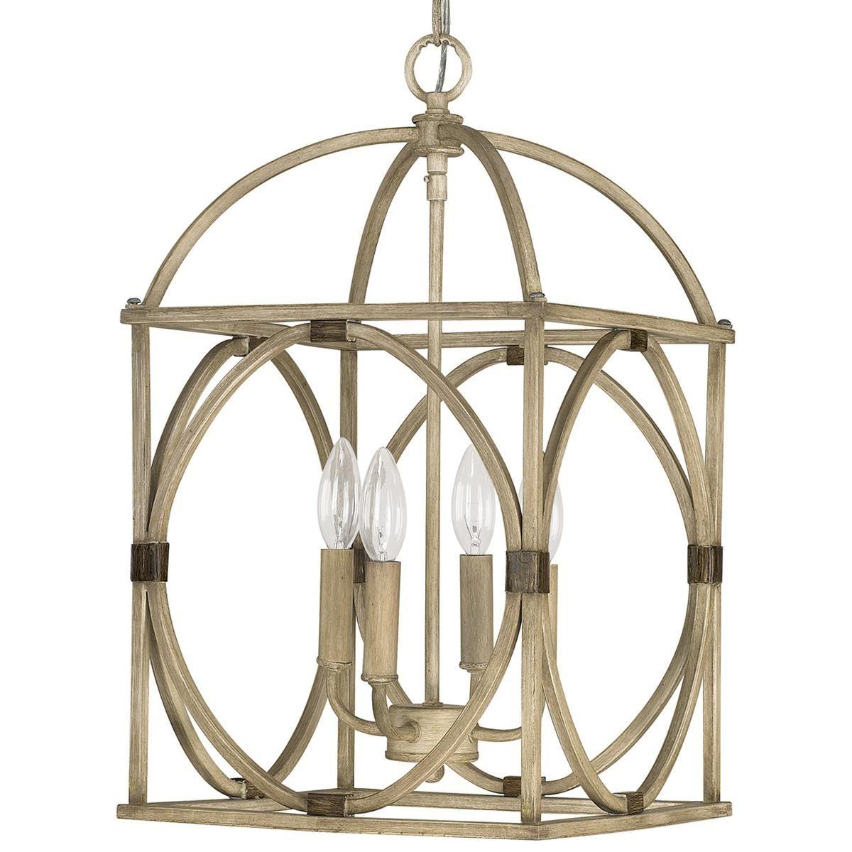 Circle Lattice Hanging Lantern – 4 Light (View 8 of 25)