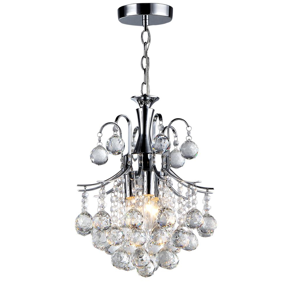 Clea 3 Light Crystal Chandeliers For Most Recently Released Warehouse Of Tiffany Arden Victorian 3 Light Crystal Chrome Chandelier With  Shade (View 18 of 25)