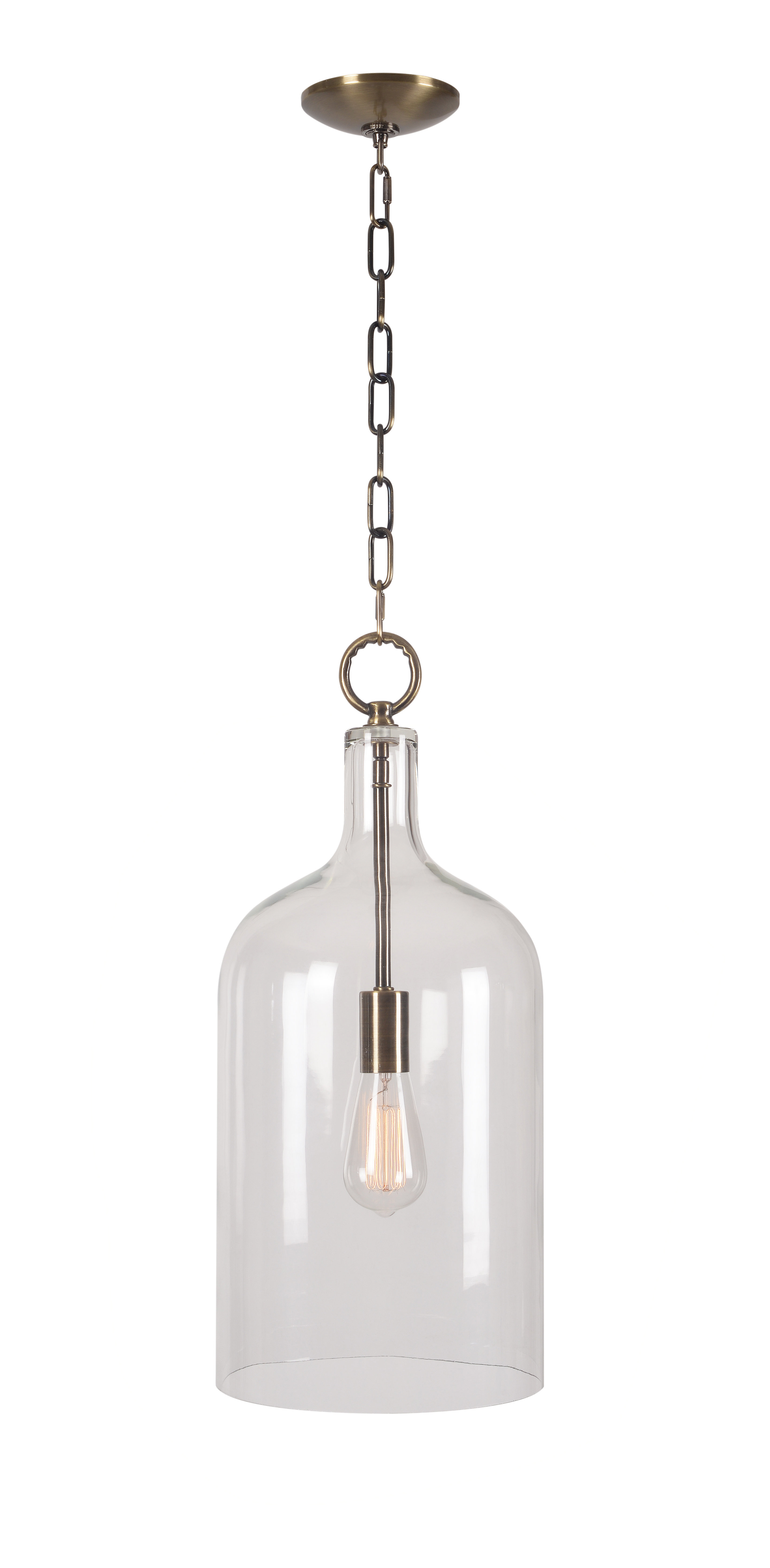 Clematite 1 Light Single Jar Pendant Intended For Well Known Nolan 1 Light Lantern Chandeliers (View 21 of 25)