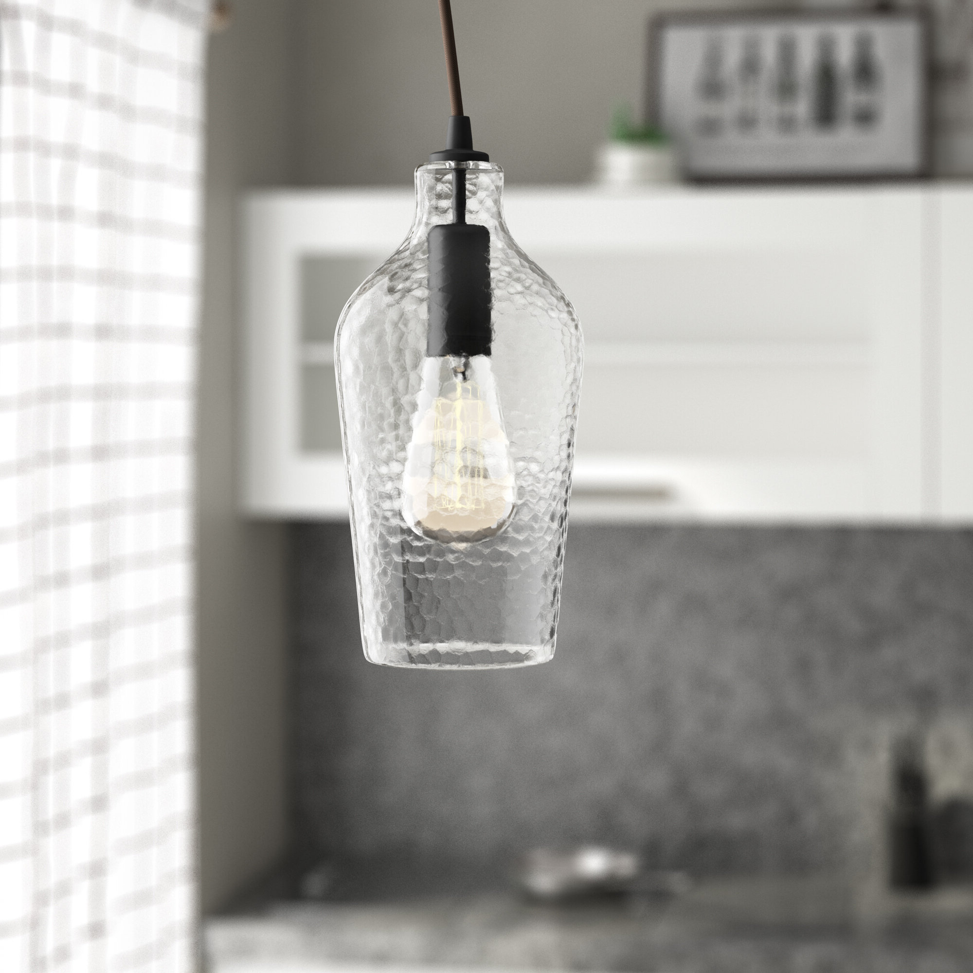 Clematite 1 Light Single Jar Pendants Inside Best And Newest 1 Light Single Jar Pendant (View 4 of 25)