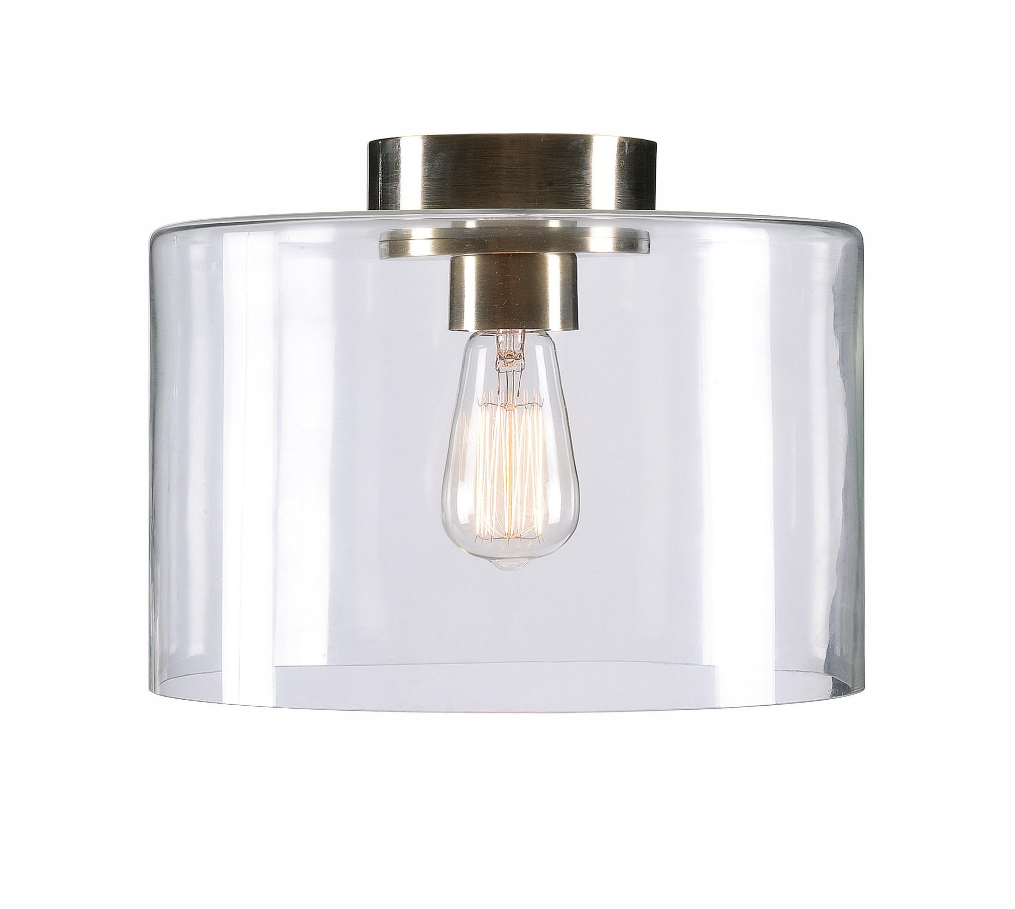 Clematite 1 Light Single Jar Pendants With 2019 Clematite 1 Light Flush Mount (View 24 of 25)