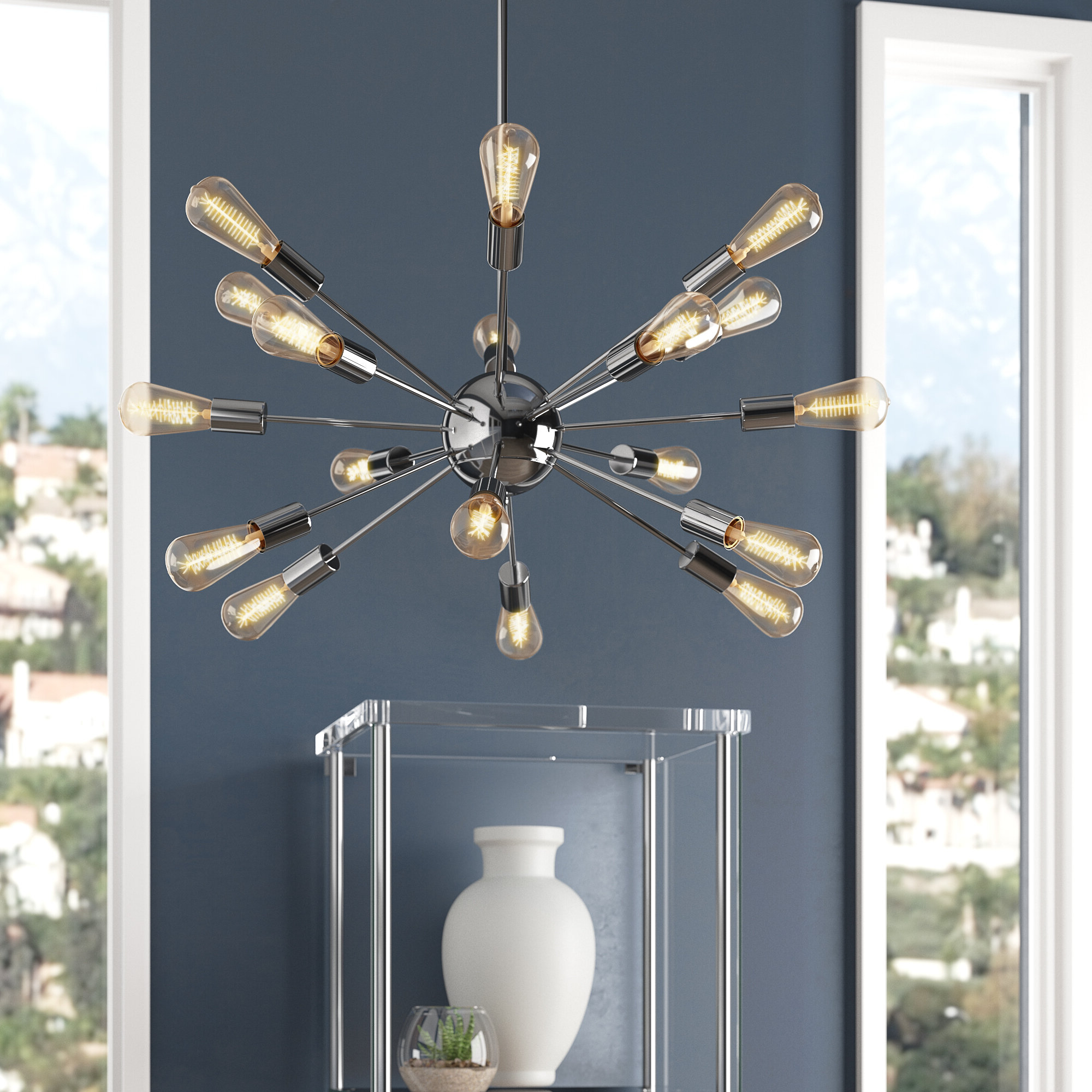 Corona 12 Light Sputnik Chandeliers Intended For Well Known Cordell 18 Light Sputnik Chandelier (View 18 of 25)