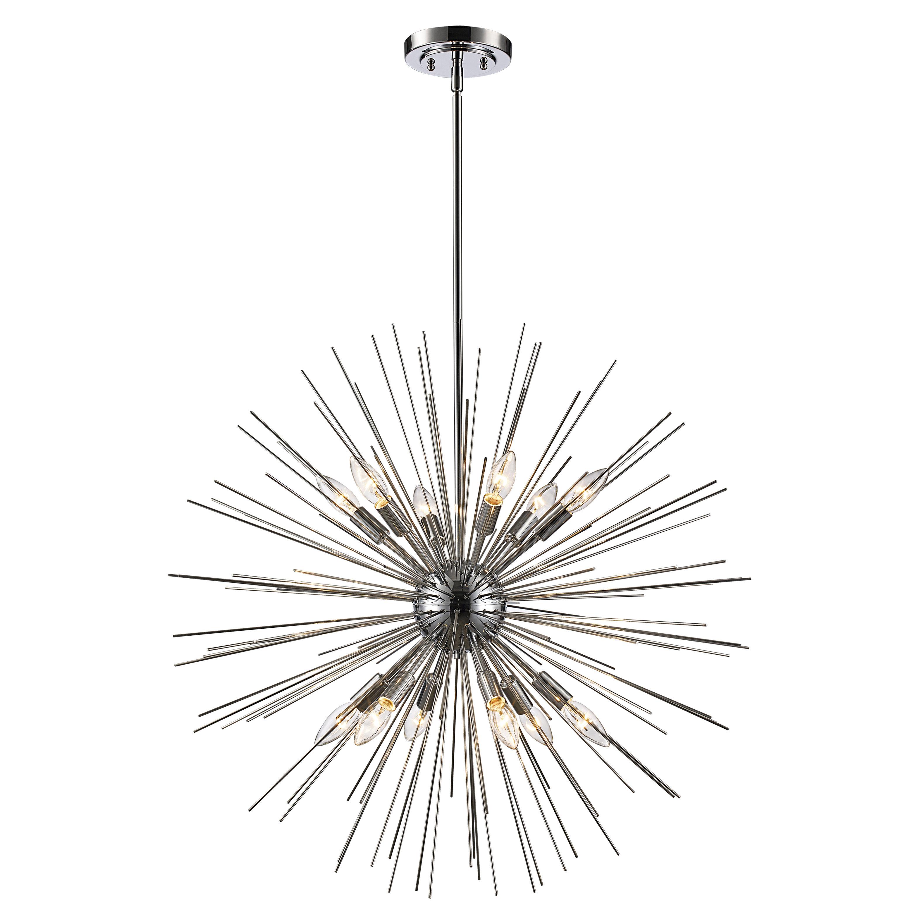 Corona 12 Light Sputnik Chandeliers Pertaining To Most Current Trent Austin Design Antonie 12 Light Sputnik Chandelier (View 9 of 25)