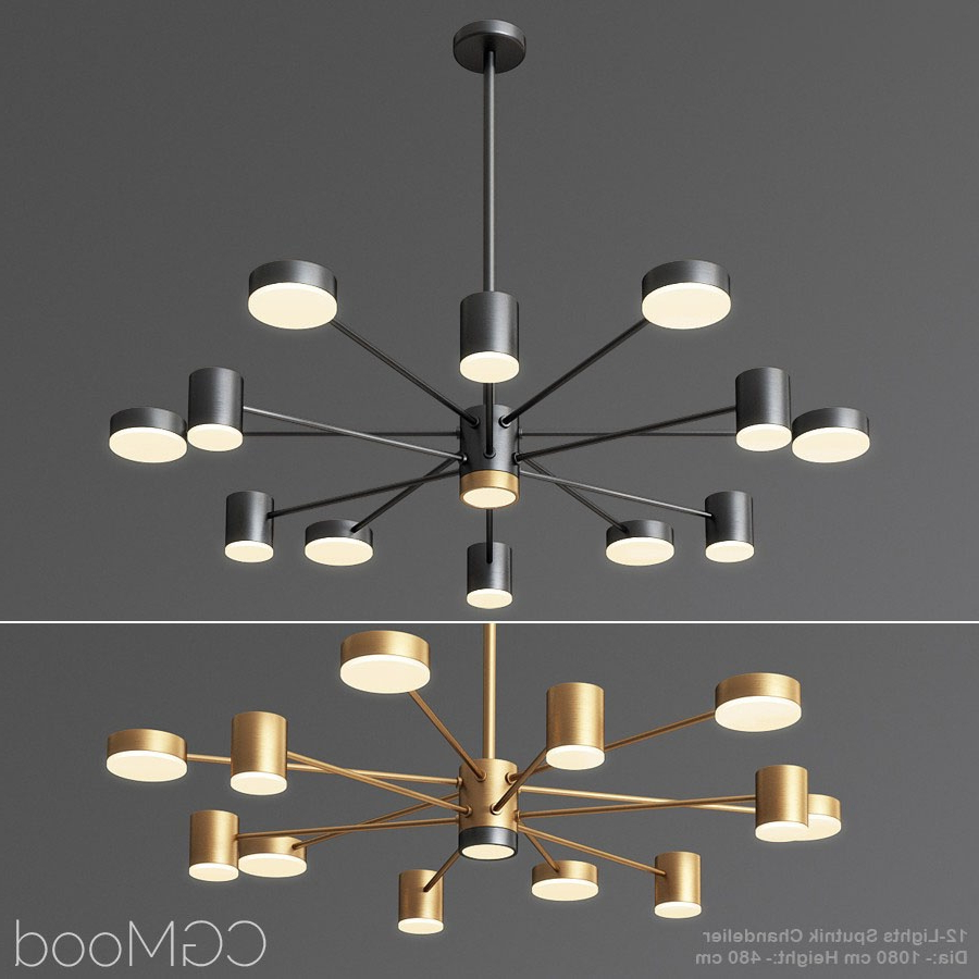 Corona 12 Light Sputnik Chandeliers Within Well Known 12 Lights Sputnik Chandelier – 3D Model For Vray, Corona (View 9 of 25)
