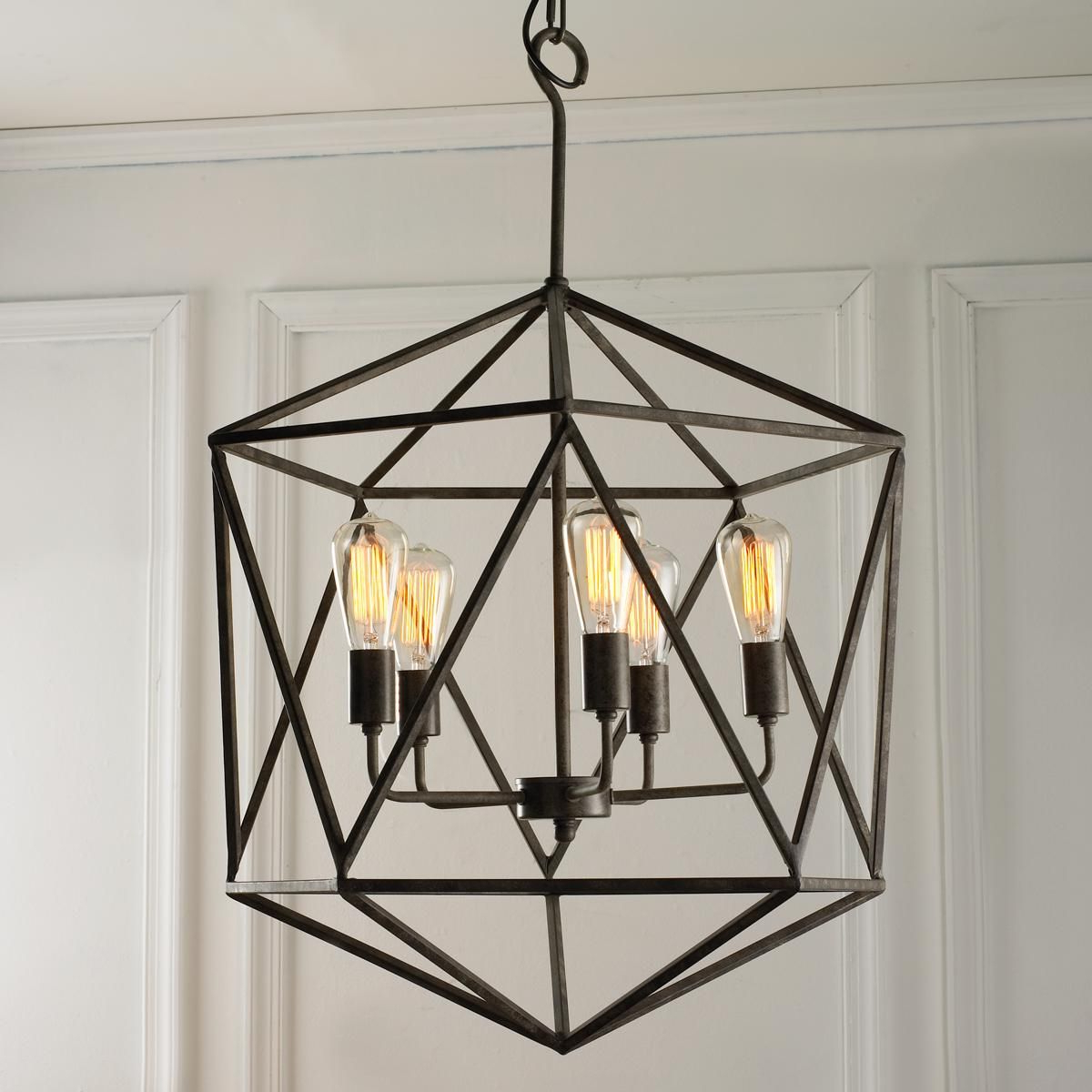 Craftsman Style Home Throughout Nisbet 6 Light Lantern Geometric Pendants (View 16 of 25)