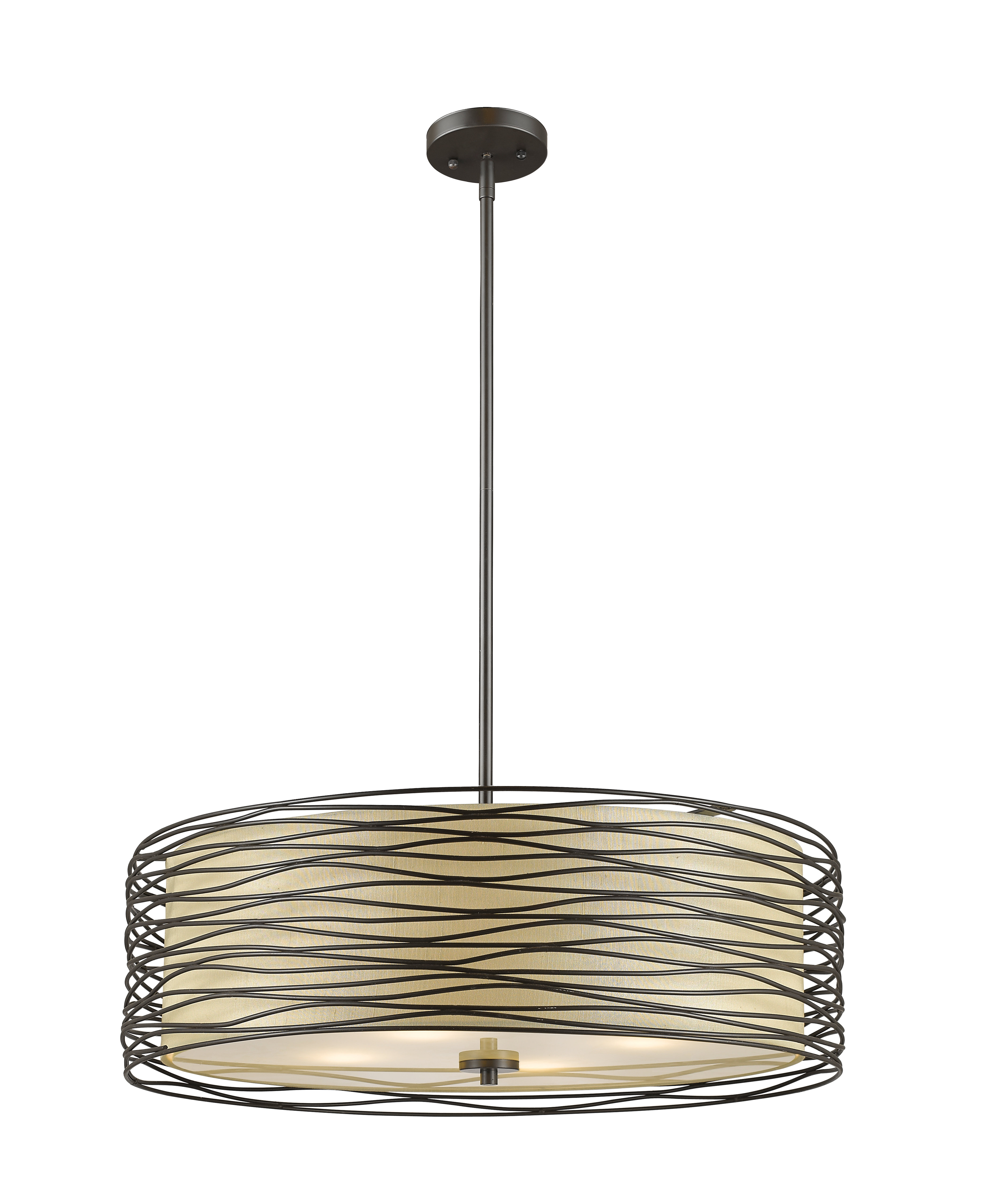 Current Alverez 4 Light Drum Chandeliers Regarding Cotner 4 Light Drum Chandelier (View 9 of 25)