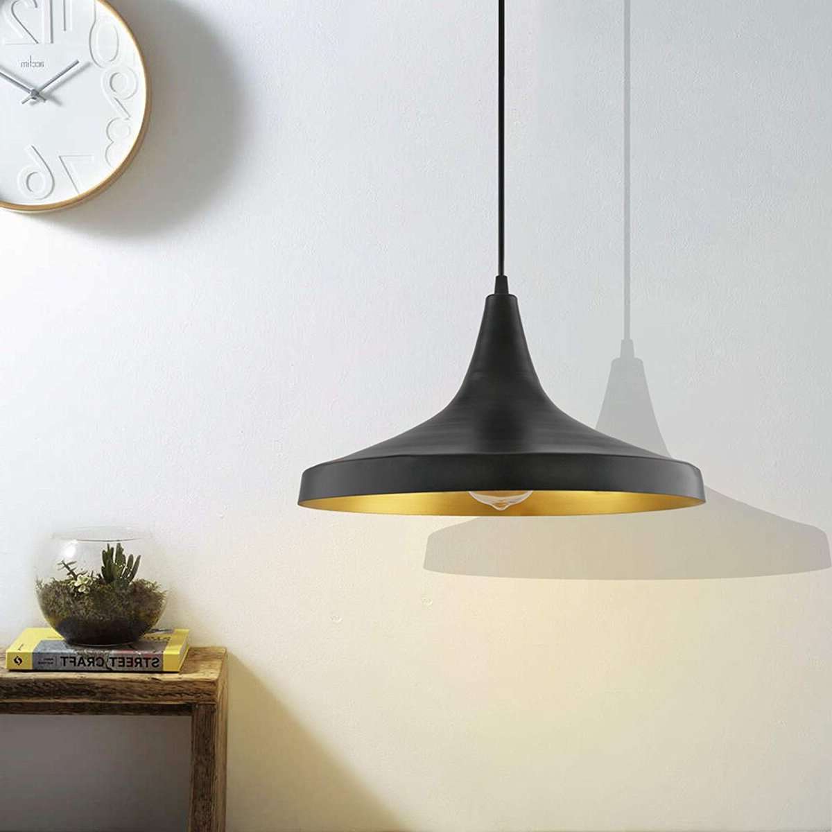 Current Details About Pendant Light Led Ceiling Lights Lamp Shade Industrial Cafe  Lighting Kitchen Bar With Akash Industrial Vintage 1 Light Geometric Pendants (View 5 of 25)