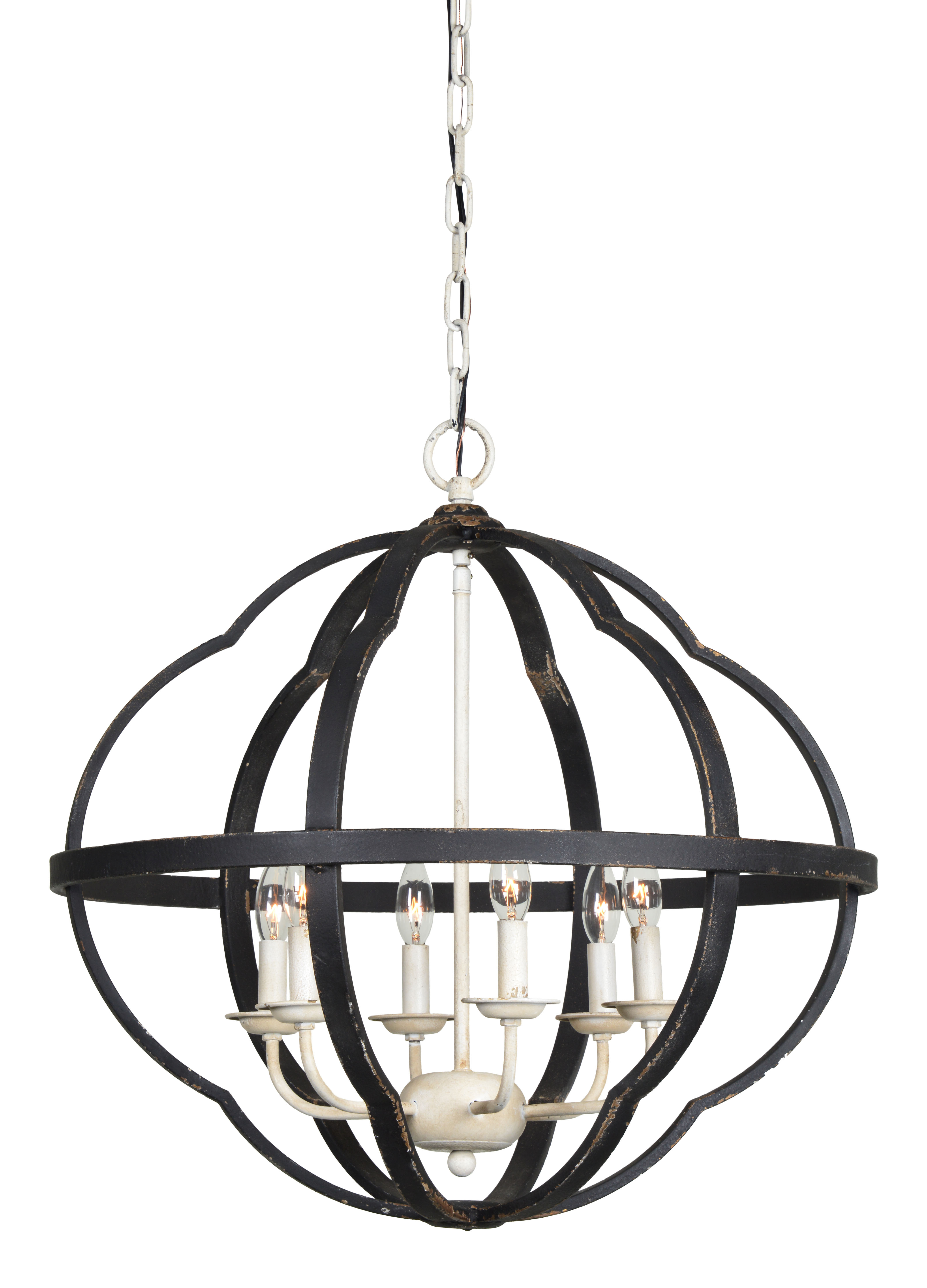 Current Filipe Globe Chandeliers Inside Distressed Finish Globe Chandeliers You'll Love In  (View 22 of 25)
