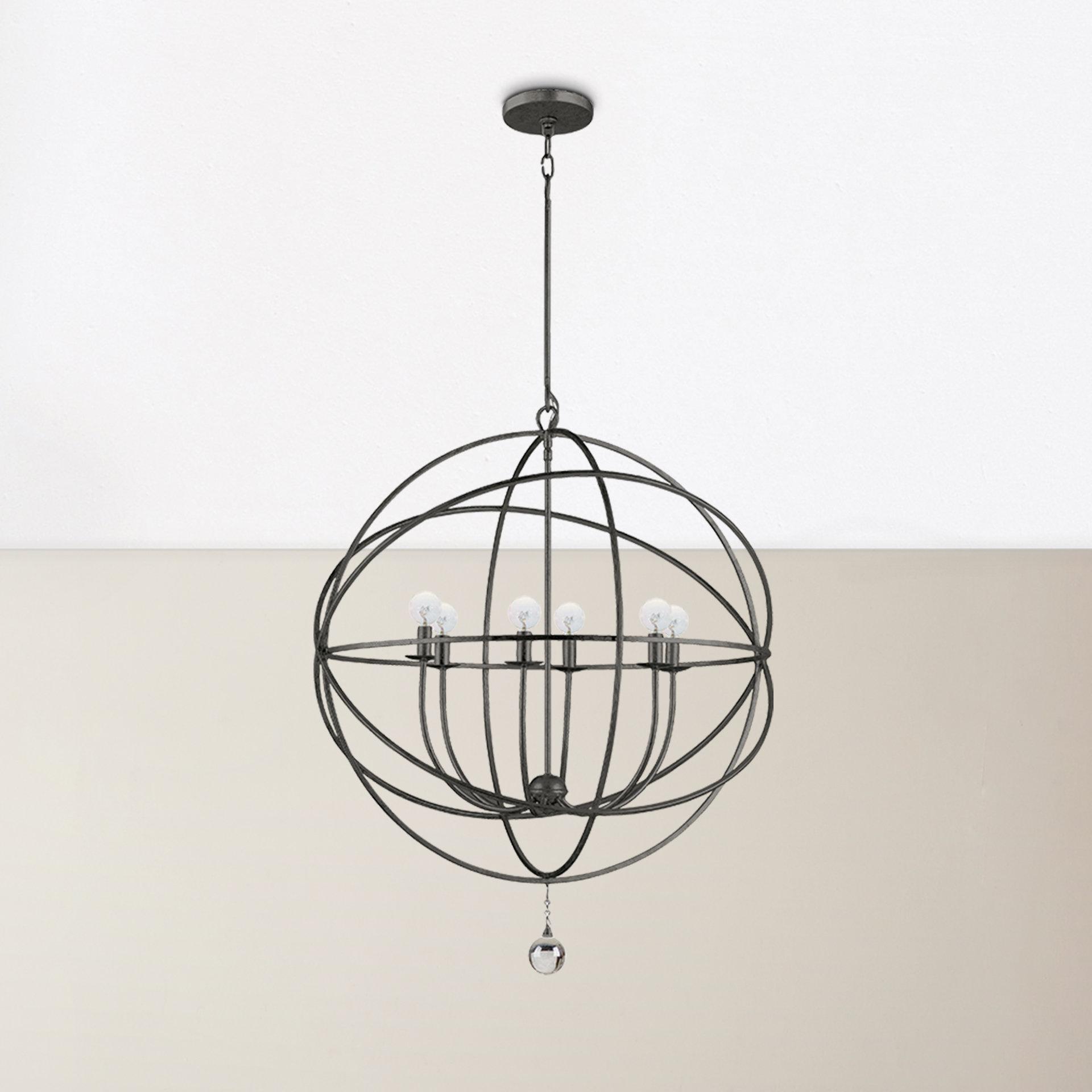 Current Gregoire 6 Light Globe Chandeliers Pertaining To Willa Arlo Interiors Gregoire 6 Light Globe Chandelier (View 22 of 25)