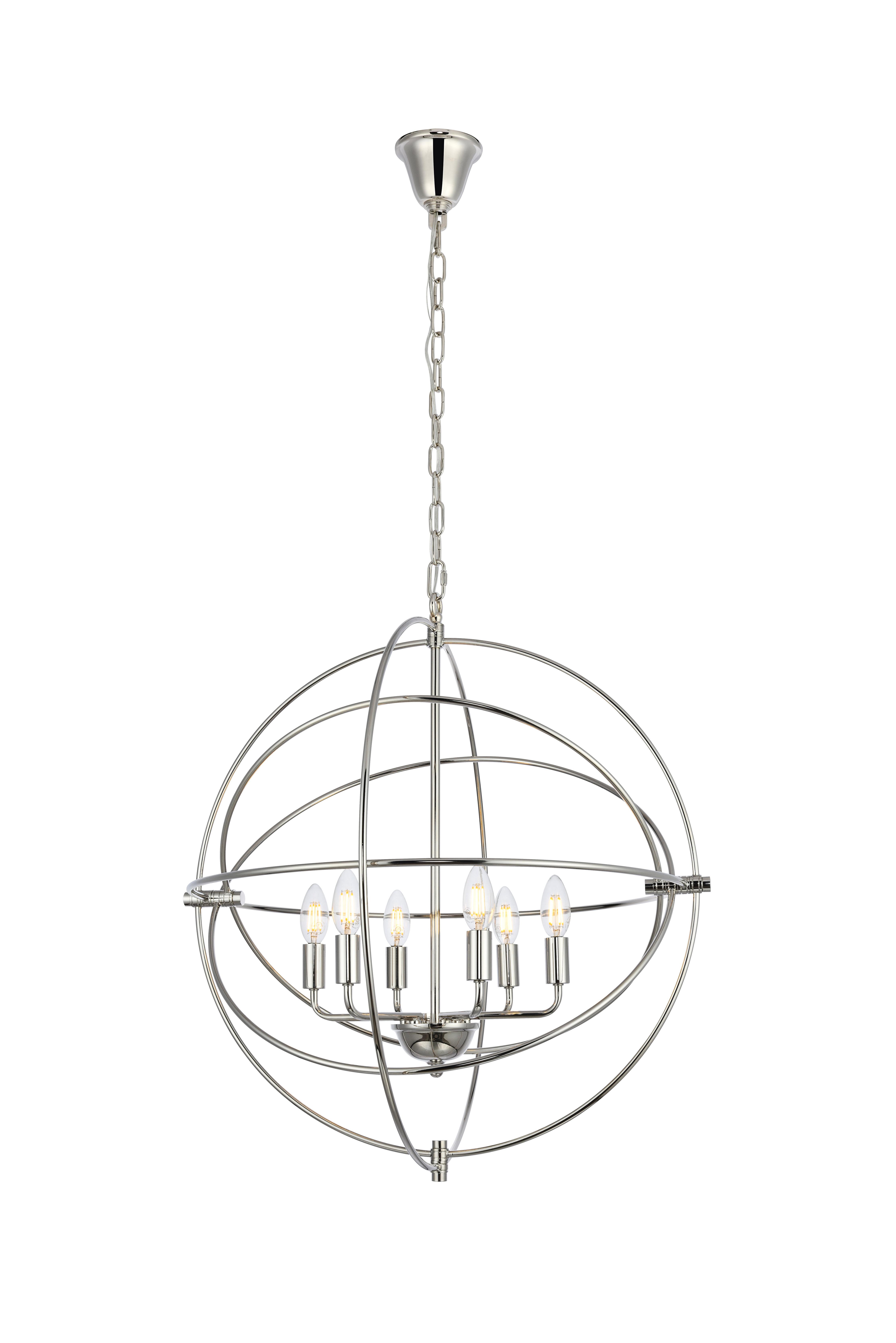 Current Gregoire 6 Light Globe Chandeliers Throughout Hamby 6 Light Globe Chandelier (View 5 of 25)