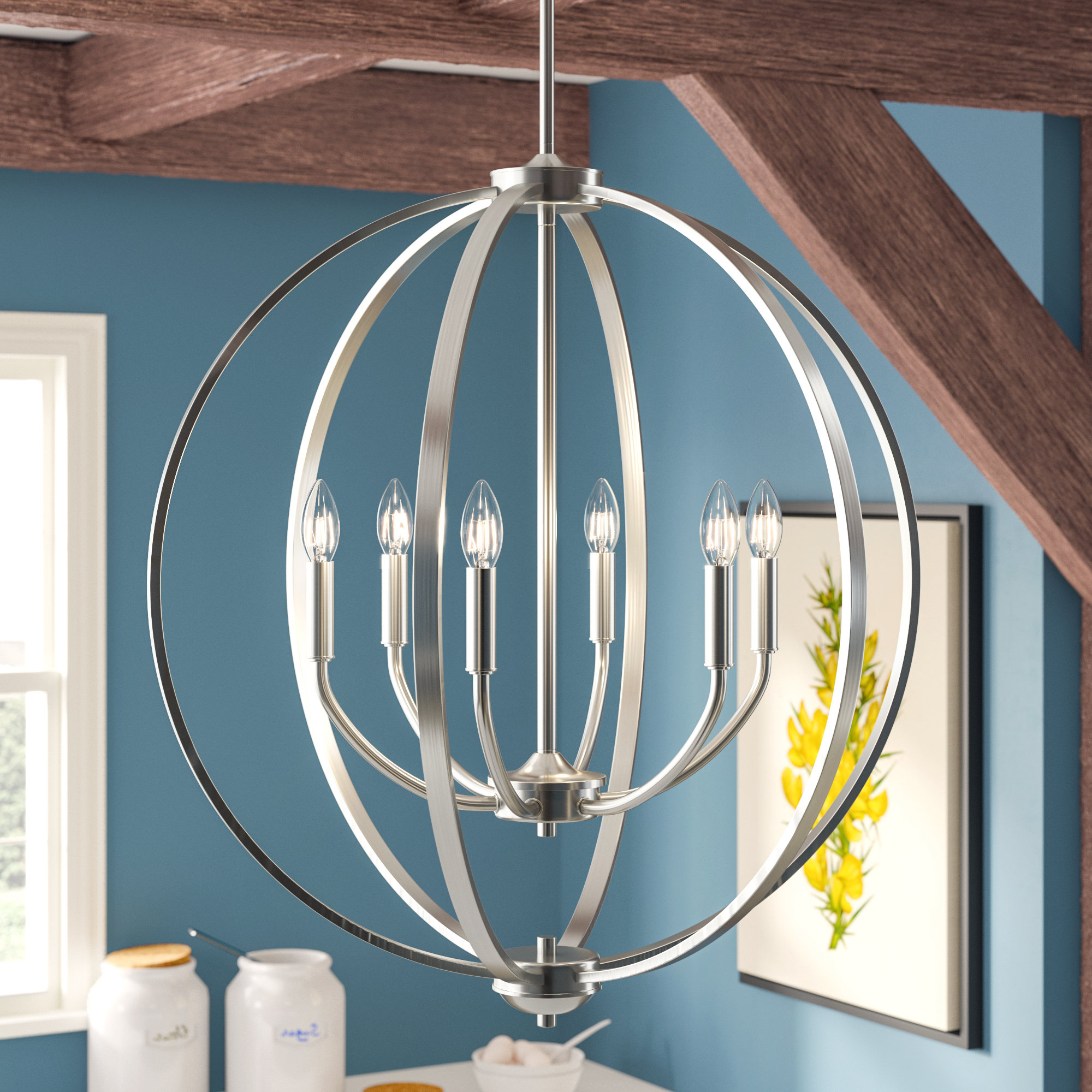 Current Gregoire 6 Light Globe Chandeliers With Regard To Earlene 6 Light Globe Chandelier (View 12 of 25)