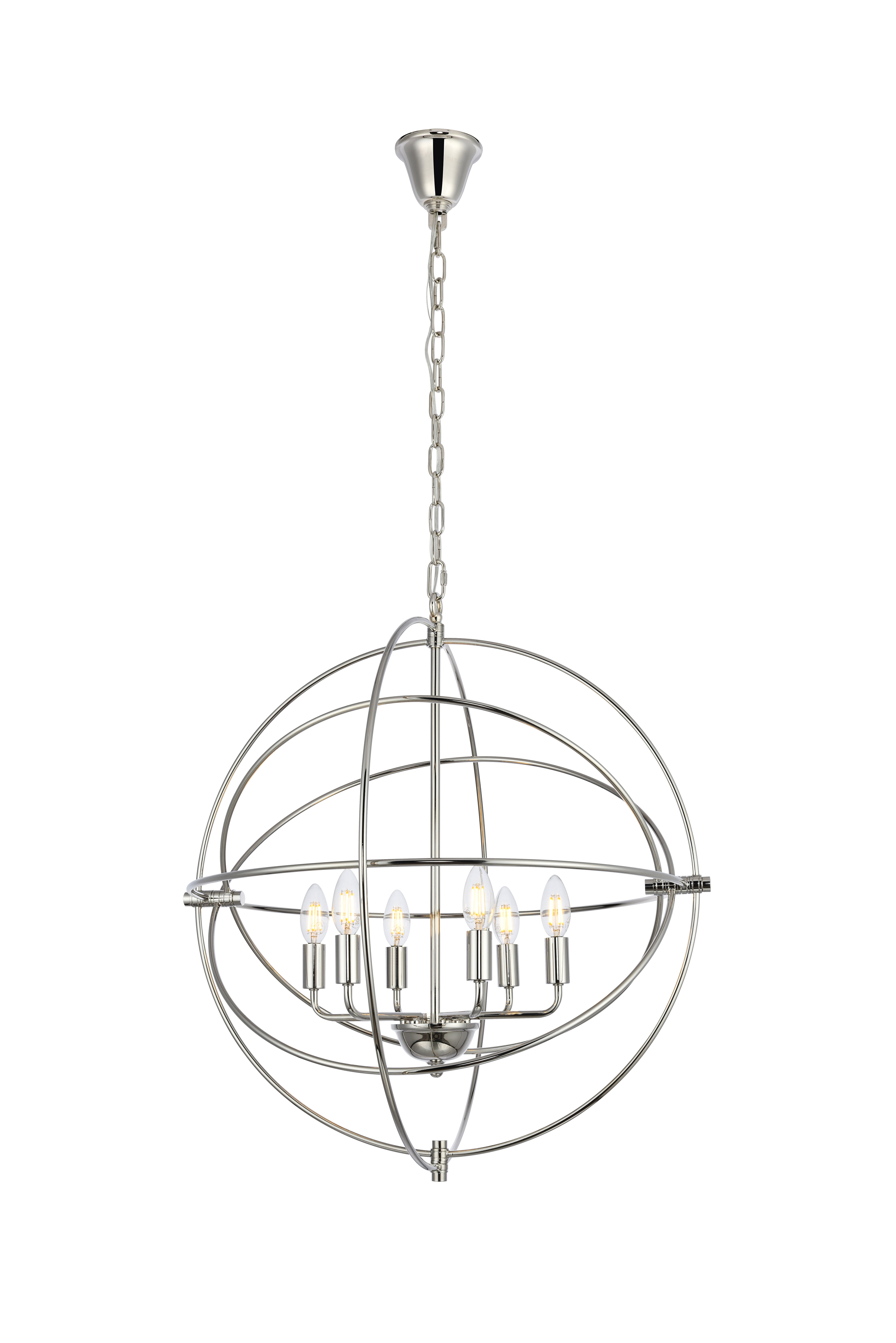 Current Hamby 6 Light Globe Chandelier With Donna 6 Light Globe Chandeliers (View 4 of 25)