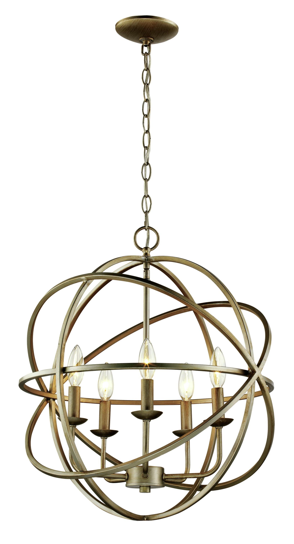 Current Hankinson 5 Light Globe Chandelier Intended For Verlene Foyer 5 Light Globe Chandeliers (View 5 of 25)