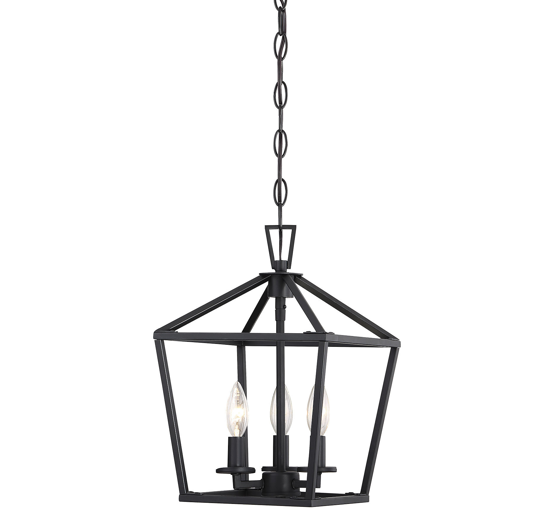 Current Israel 3 Light Lantern Geometric Pendant With Gabriella 3 Light Lantern Chandeliers (View 5 of 25)