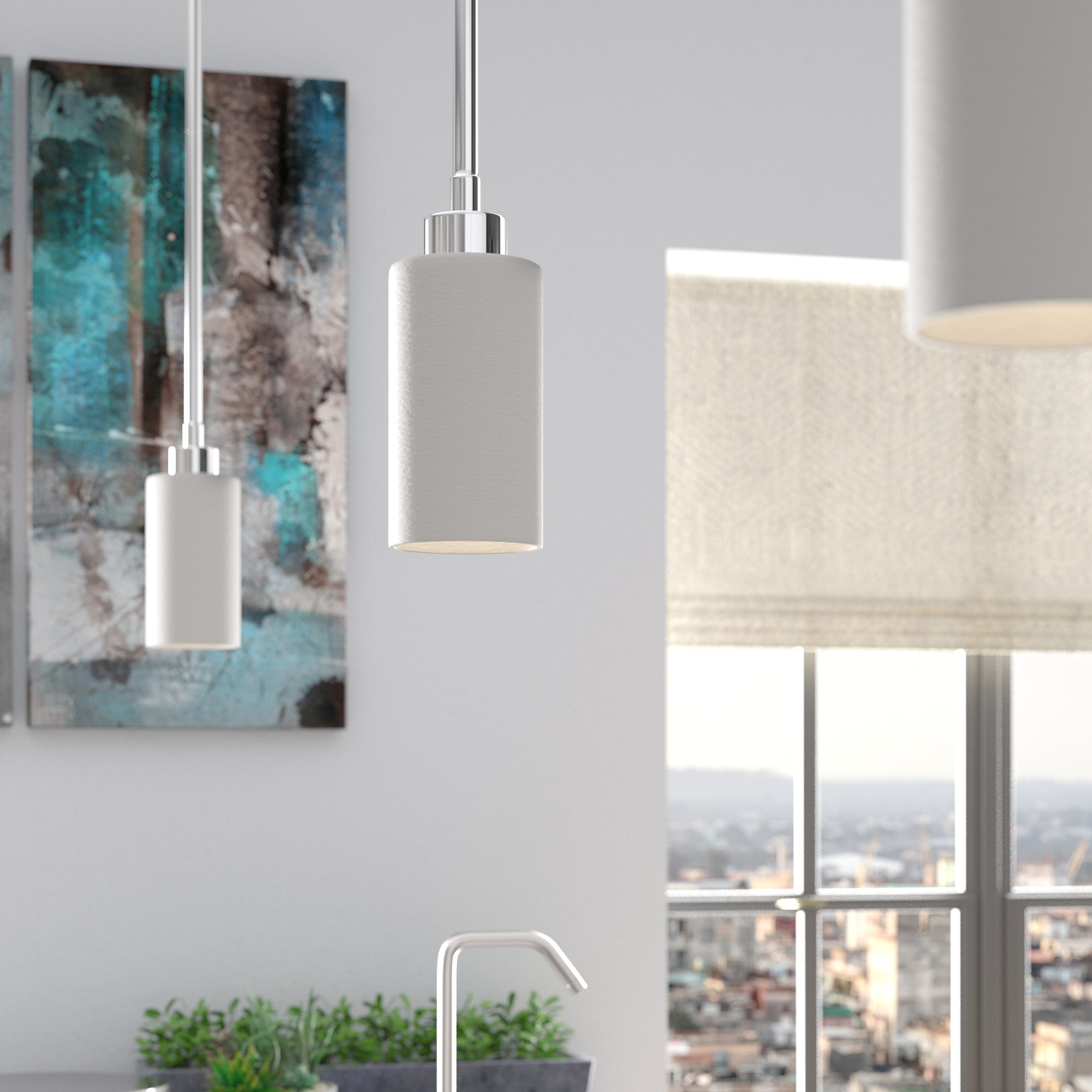 Current Jayce 1 Light Cylinder Pendants Within Colter 1 Light Cylinder Pendant (View 20 of 25)