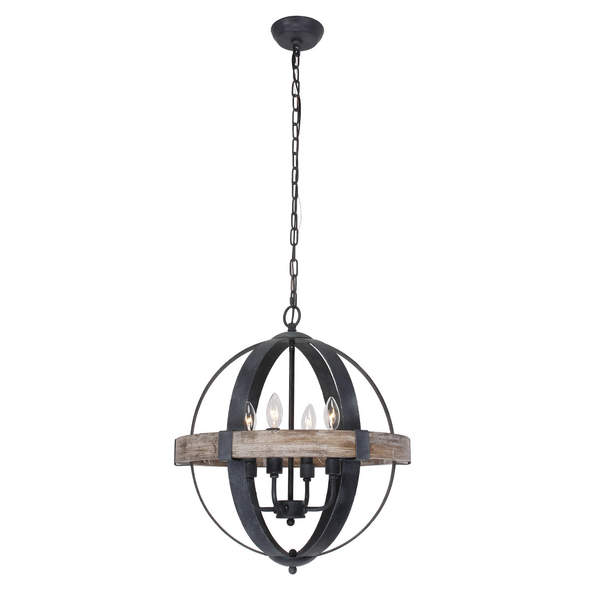 Current Landwehr 4 Light Chandelier With La Barge 3 Light Globe Chandeliers (View 24 of 25)