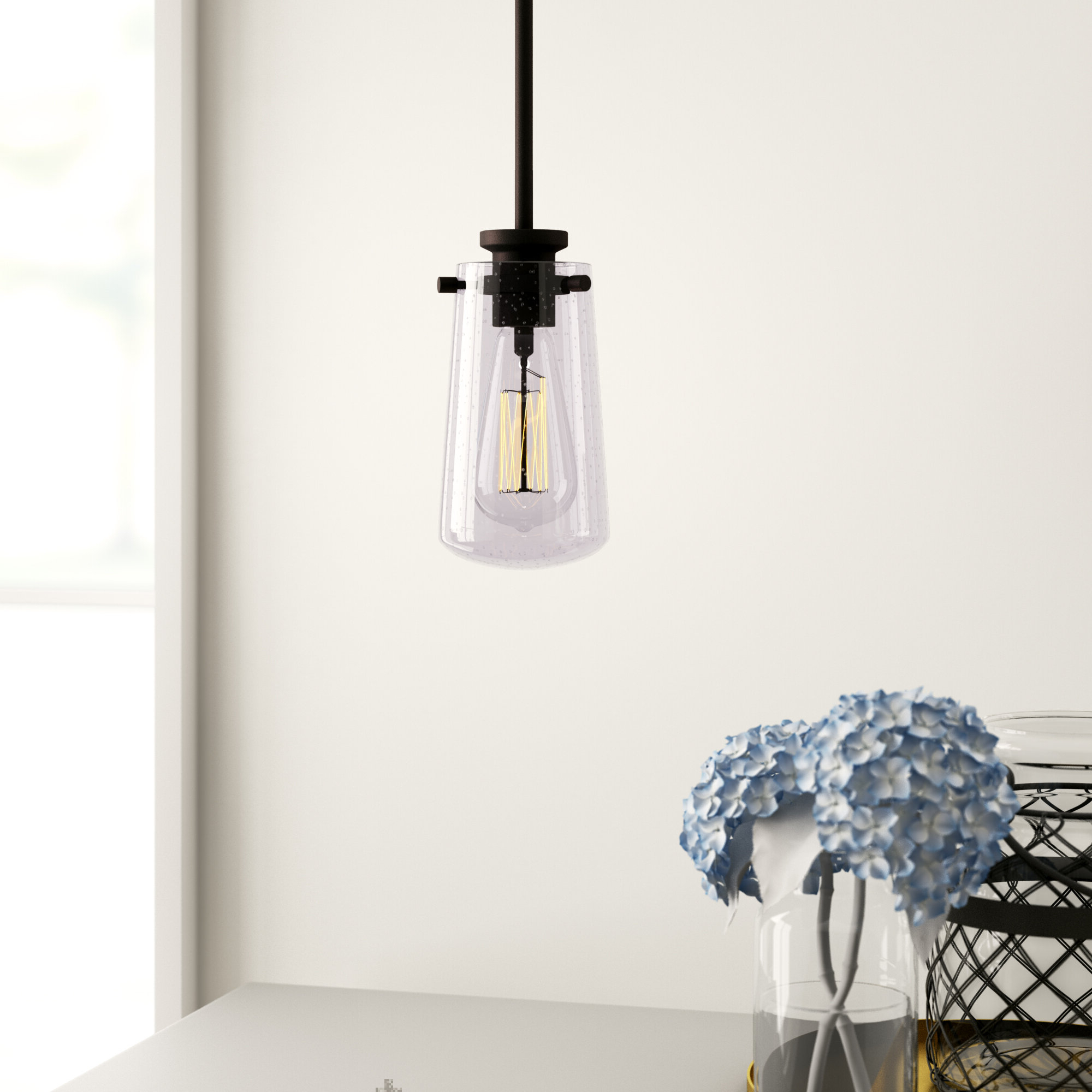 Current Moyer 1 Light Single Cylinder Pendants Pertaining To Renderos 1 Light Single Cylinder Pendant (View 4 of 25)