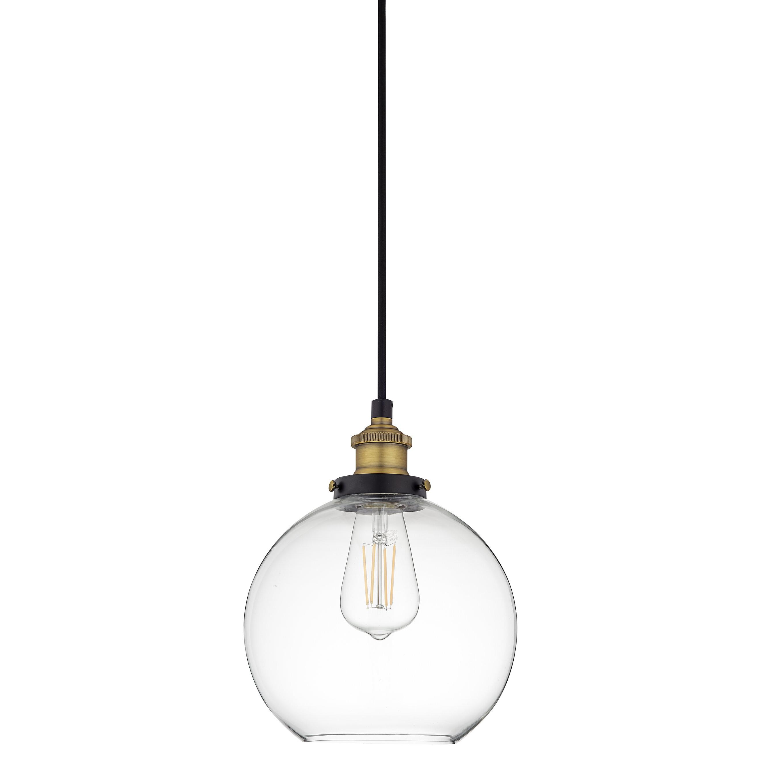 Current Neal 1 Light Single Teardrop Pendants In Mercury Row Bundy 1 Light Single Globe Pendant (View 16 of 25)