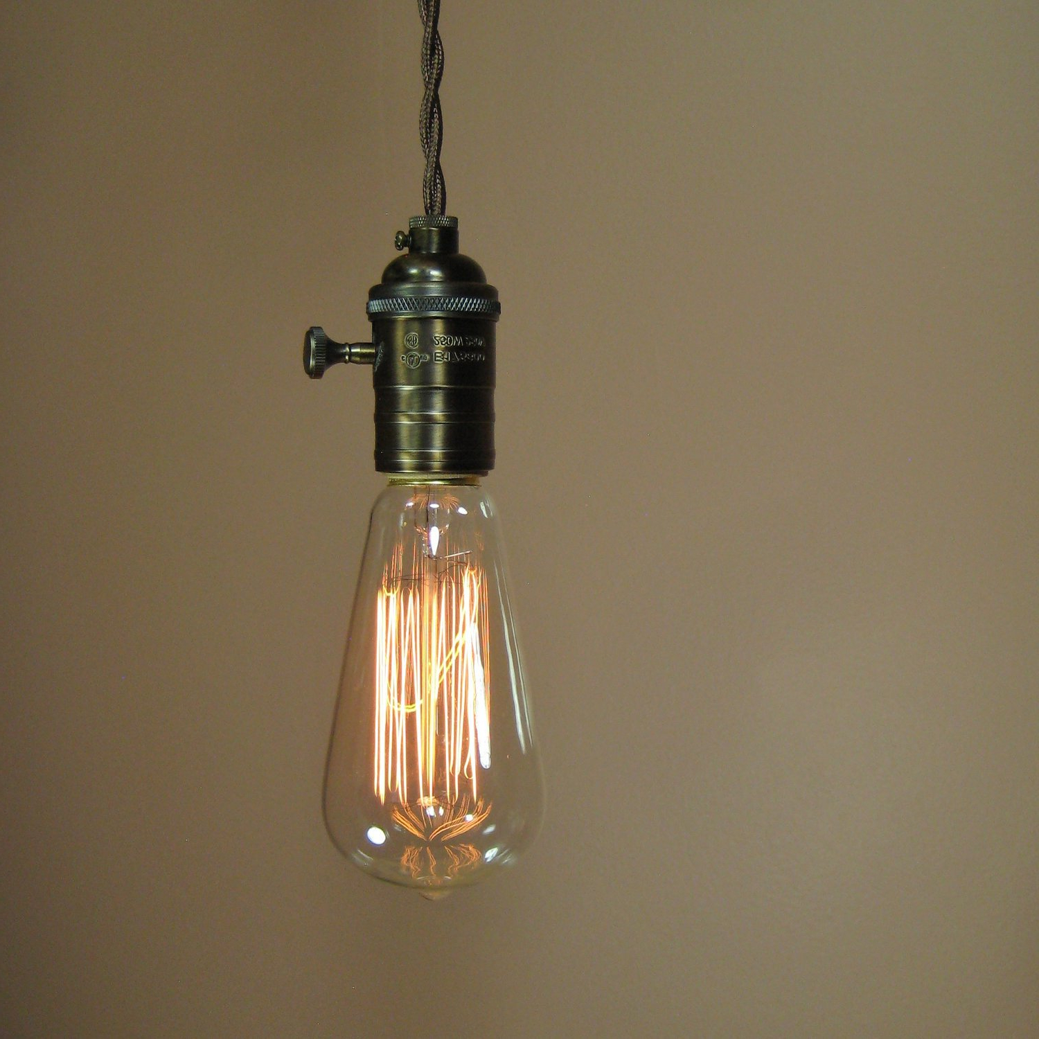 Current Reserved For Henry Rustic Bare Bulb Pendant Light With With Regard To Vintage Edison 1 Light Bowl Pendants (View 4 of 25)