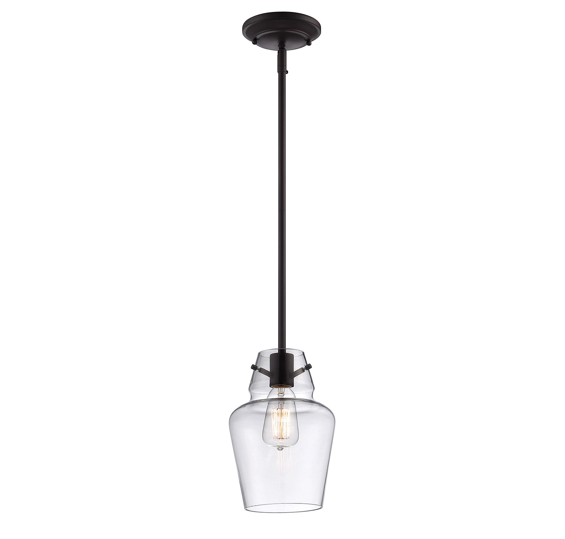Current Roslindale 1 Light Bell Pendant Throughout Jayce 1 Light Cylinder Pendants (View 13 of 25)