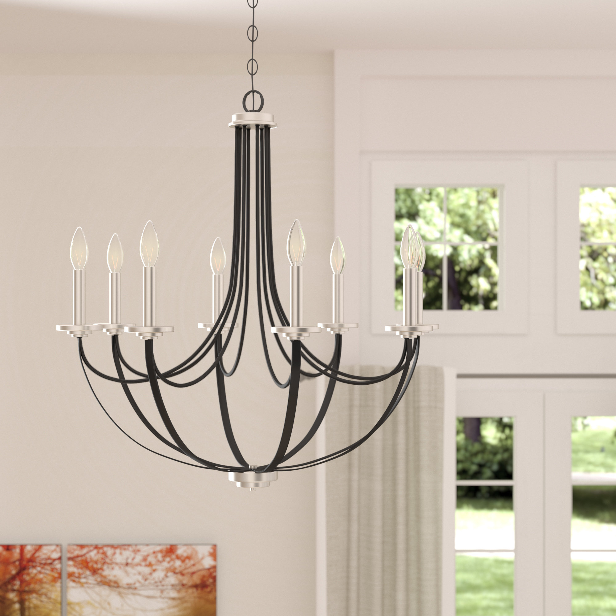 Current Siavash Mystic Black 8 Light Candle Style Chandelier For Shaylee 8 Light Candle Style Chandeliers (View 9 of 25)