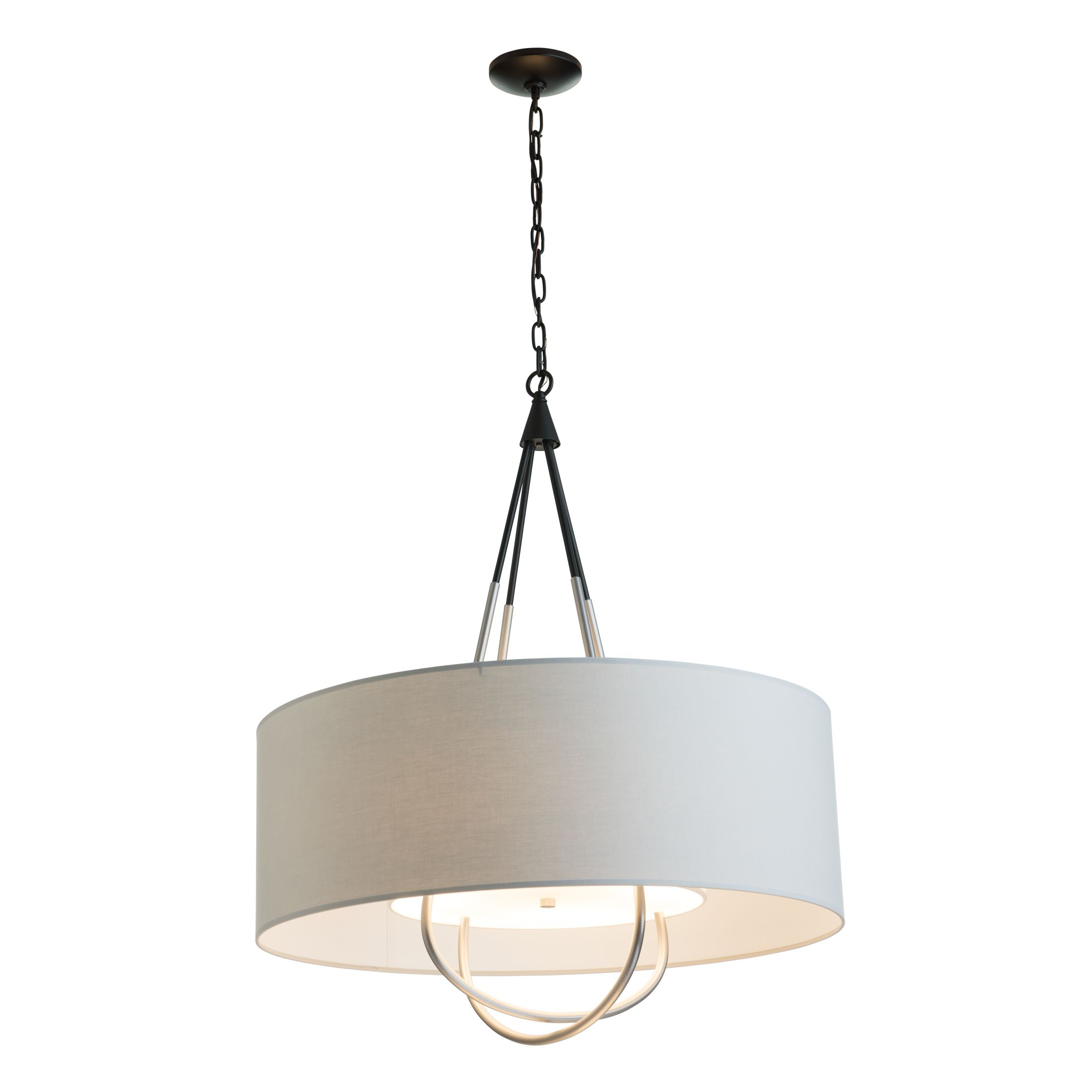 Current Vincent 5 Light Drum Chandeliers Throughout Loop Pendant – Hubbardton Forge (View 23 of 25)