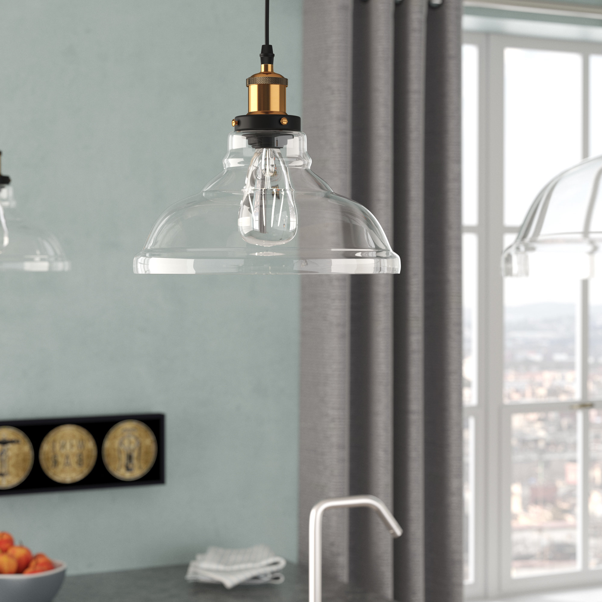 Current Williston Forge Channelle 1 Light Dome Pendant & Reviews Pertaining To Fresno Dome 1 Light Bell Pendants (View 4 of 25)
