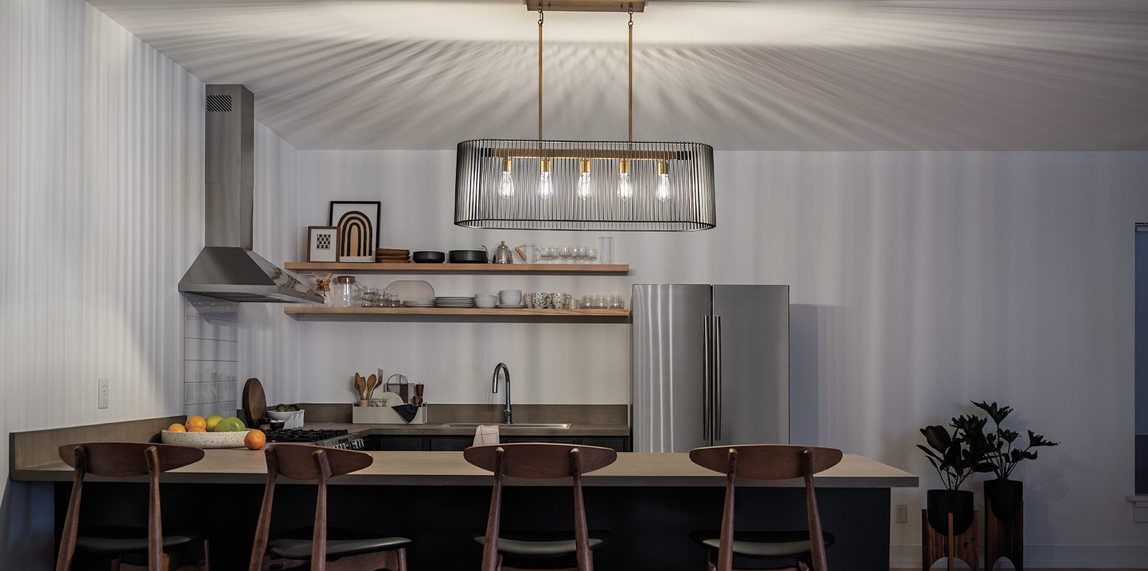 Dailey 4-Light Drum Chandeliers intended for Most Up-to-Date Kichler Lighting - Pendant, Ceiling, Landscape Lights & More